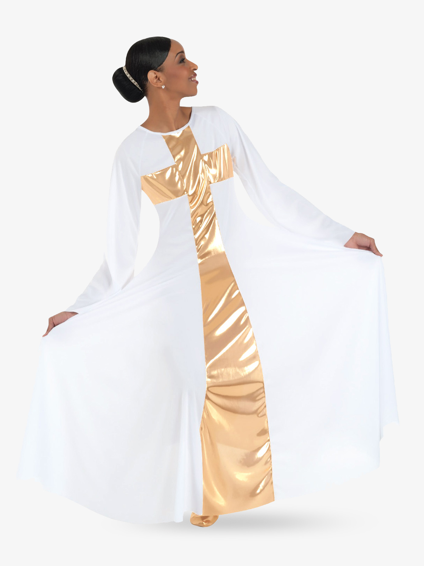 Body Wrappers Women's Worship Long Cross Dress 620