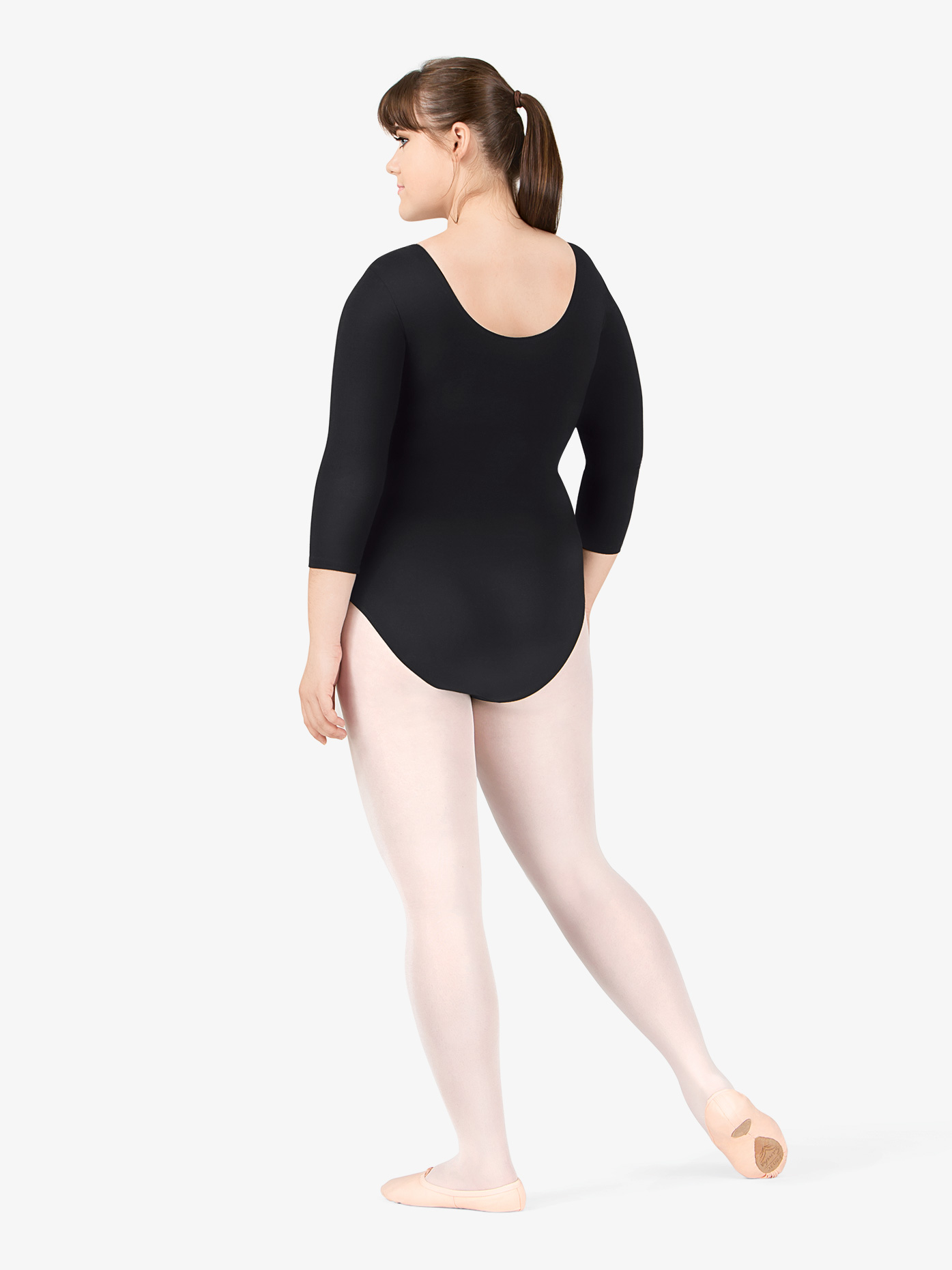 bdc4a578bbe Plus Size 3 4 Sleeve Leotard - 3 4 Sleeves