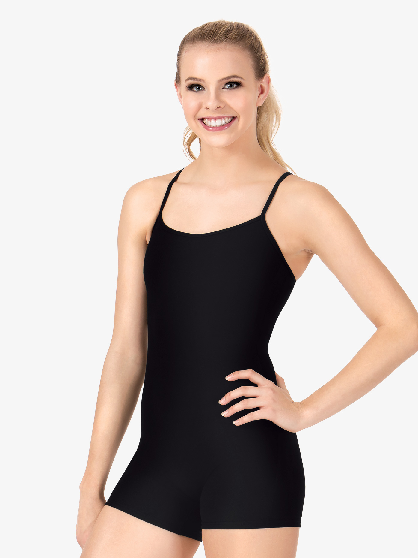 Body Wrappers Y-Back Camisole Shorty Unitard 7322