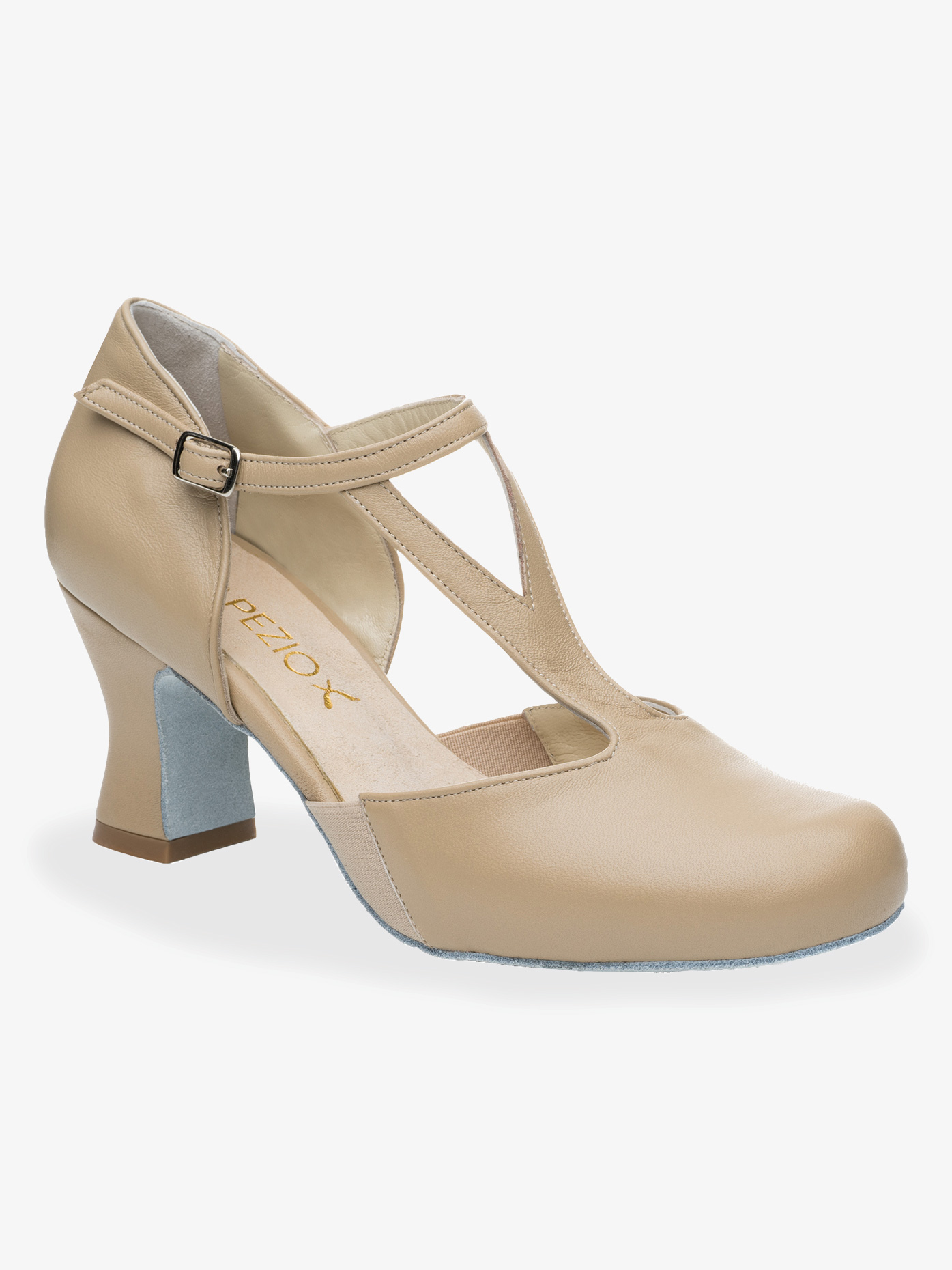 Capezio Womens Charlotte 2.5 T-Strap Character Shoes 829W