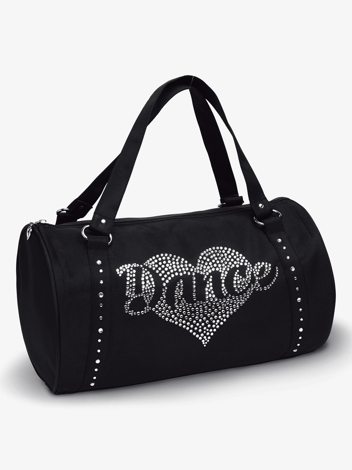 DansBagz Rhinestone Heart Duffle Bag B580