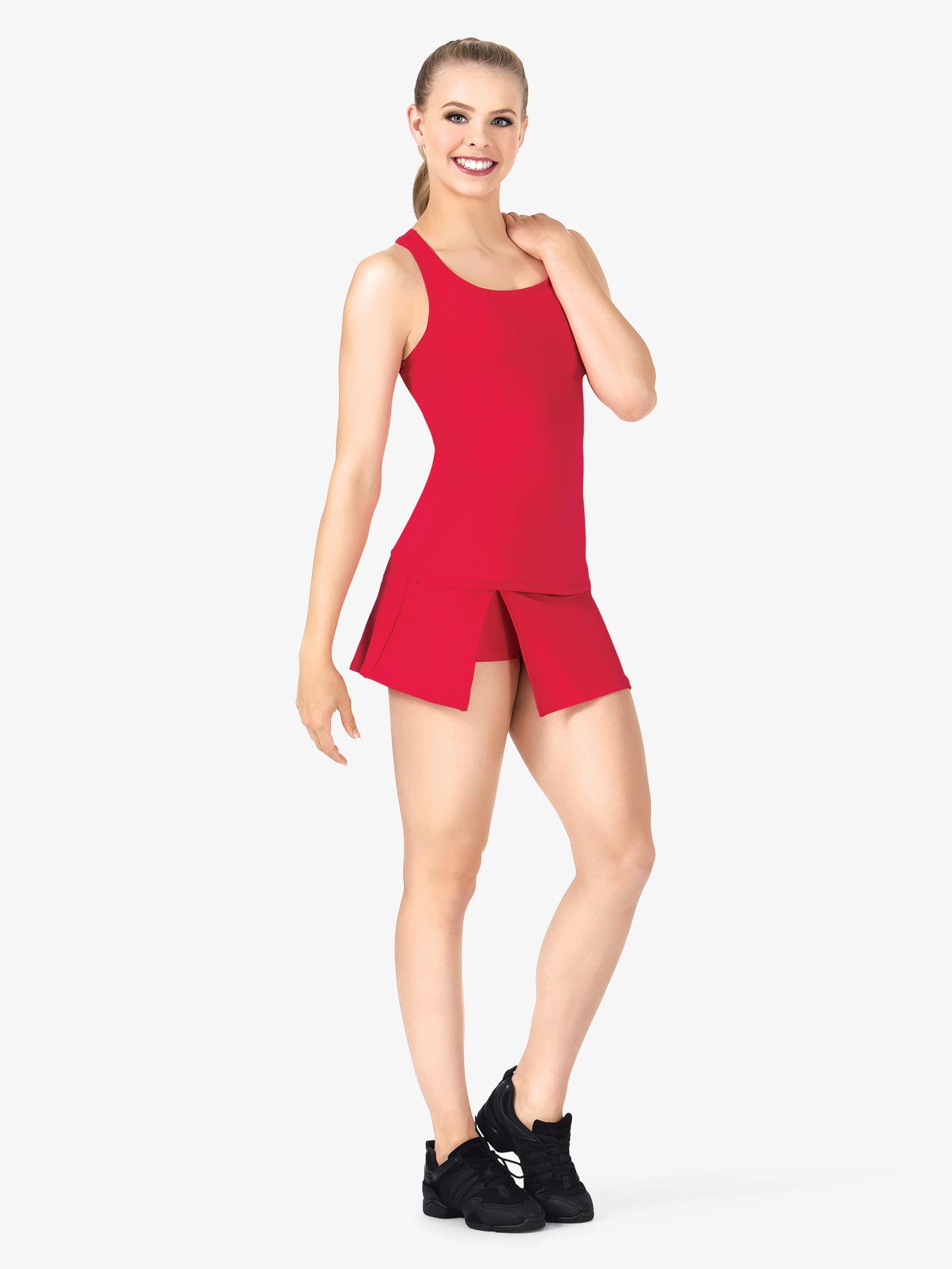 BalTogs Womens Plus Size Team Basic SilkTech Dance Skort BT5206P
