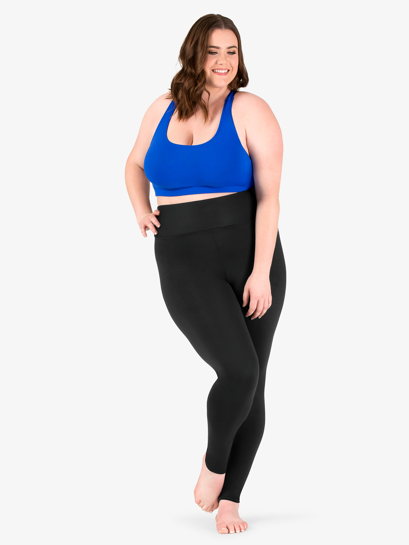 BalTogs Womens Plus Size Team Basic SilkTech High Waist Dance Leggings BT5208P