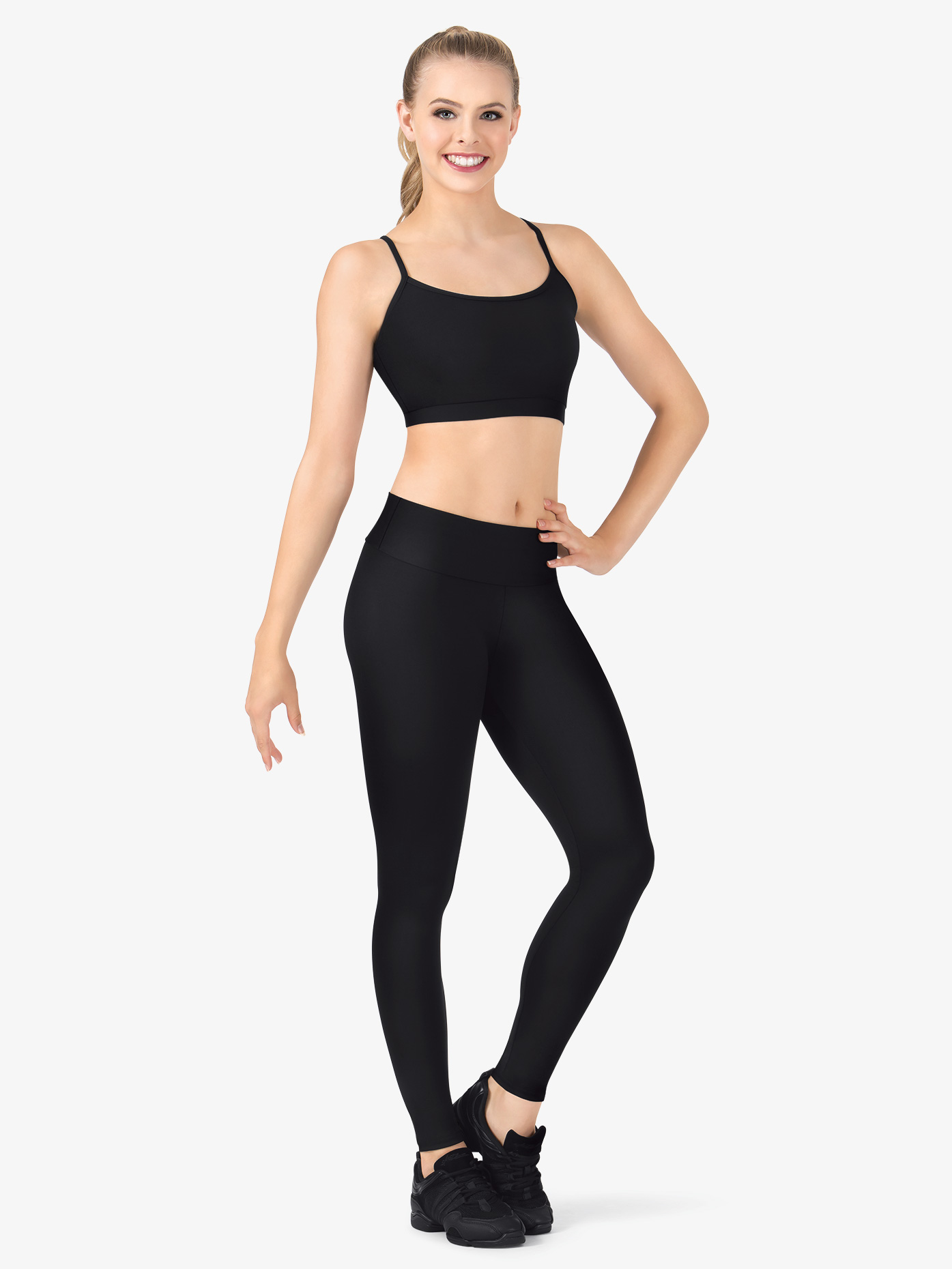 BalTogs Womens Team Basic SilkTech High Waist Dance Leggings BT5208