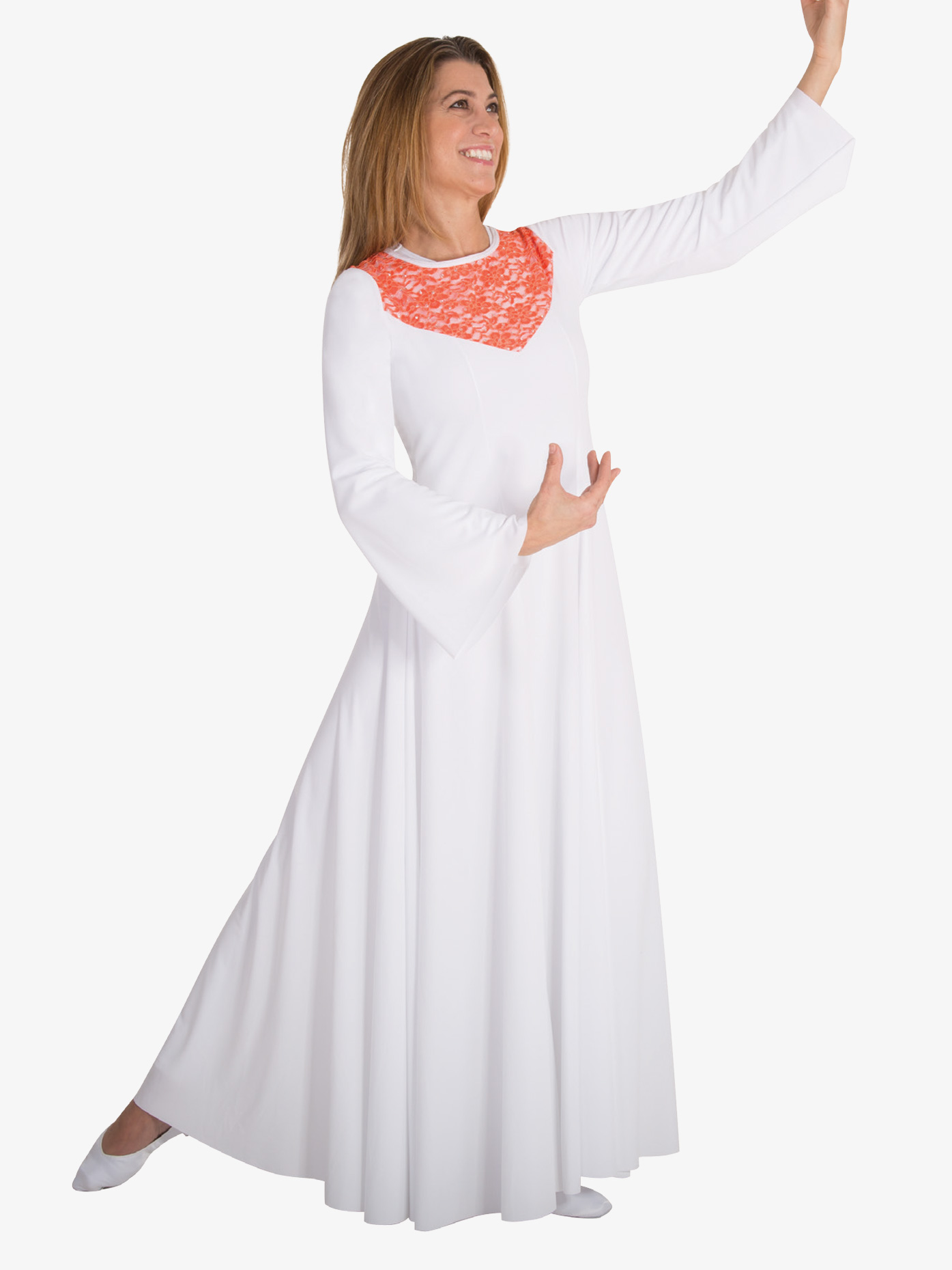 Body Wrappers Girls Bell Sleeve Worship Dress BW0625