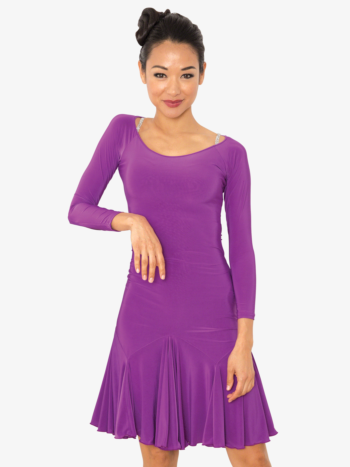Dance America Womens Back Cutout Short Ballroom Dance Dress D802