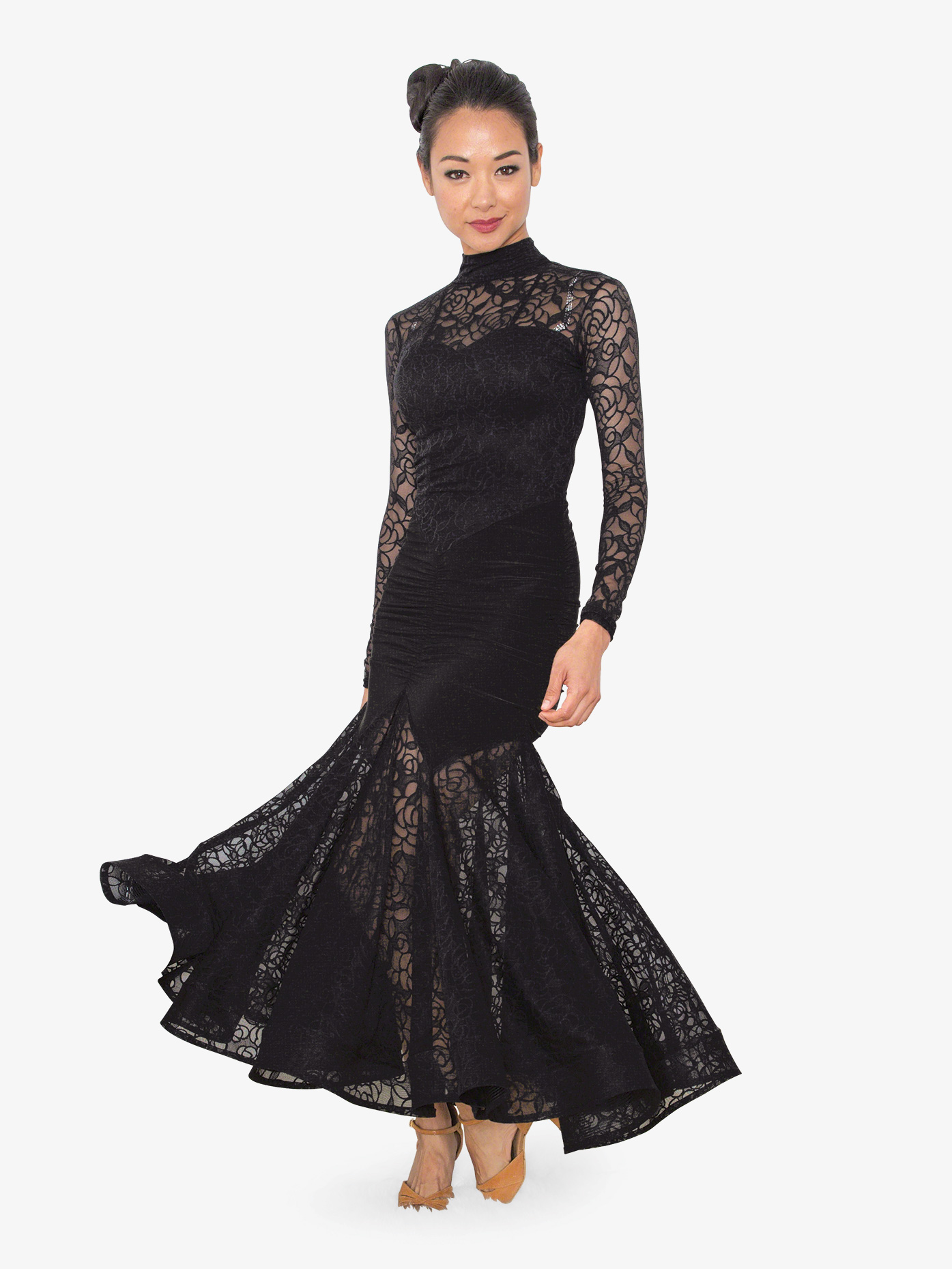 Dance America Womens Angelica Long Ballroom Dance Dress D810