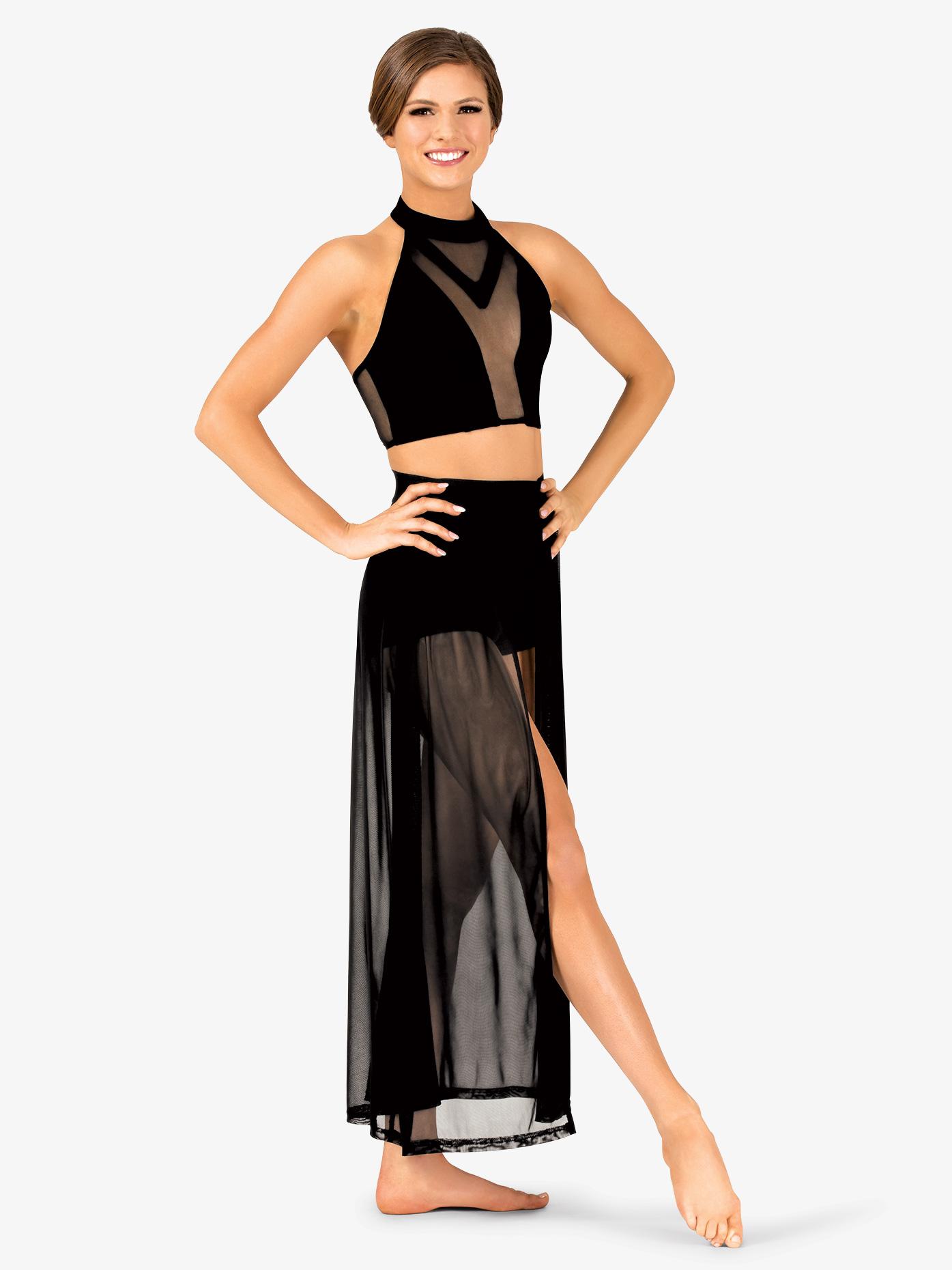 Double Platinum Womens Performance Open Front Mesh Skirt DS2924