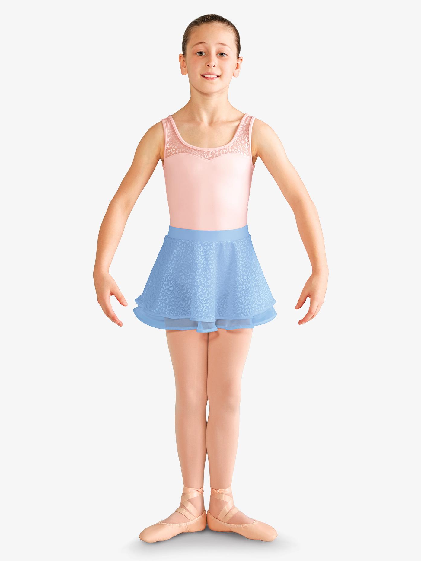 Mirella Girls Elastic Waist Band Animal Print Mesh Skirt MS121C