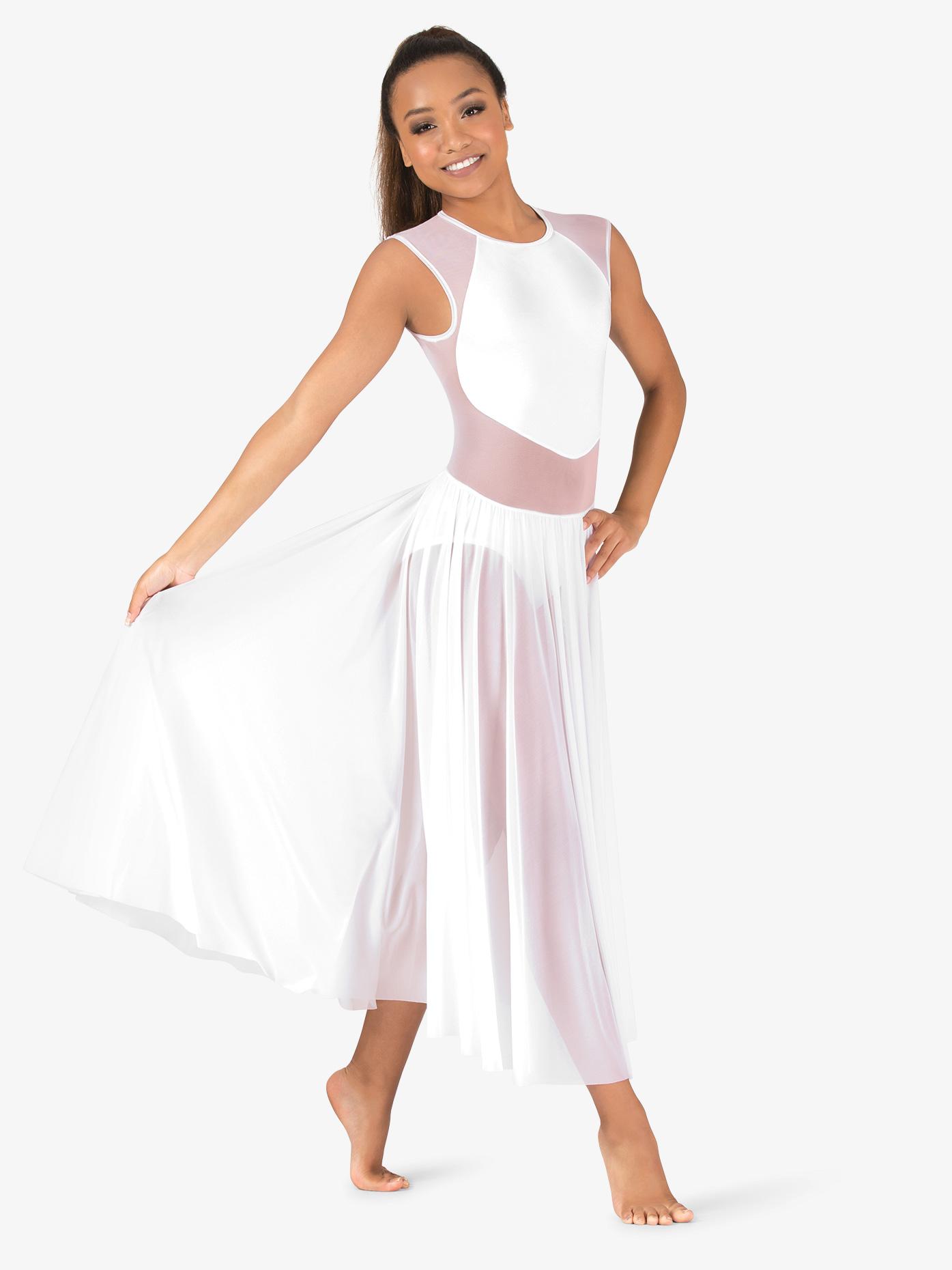 Double Platinum Womens Performance Mesh Cap Sleeve Dress N7702