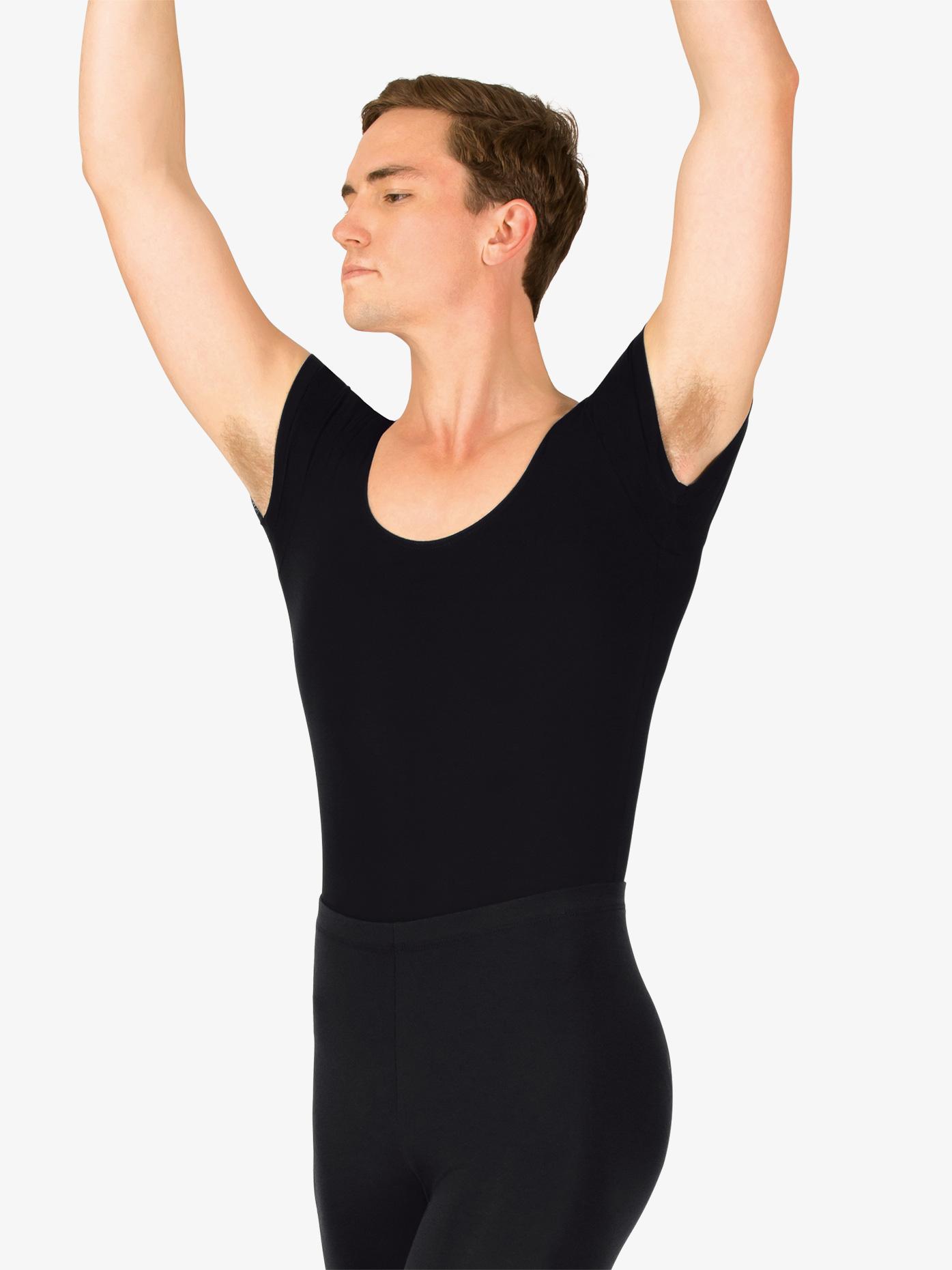Mariia Boys Dance Cotton Short Sleeve Leotard P02B