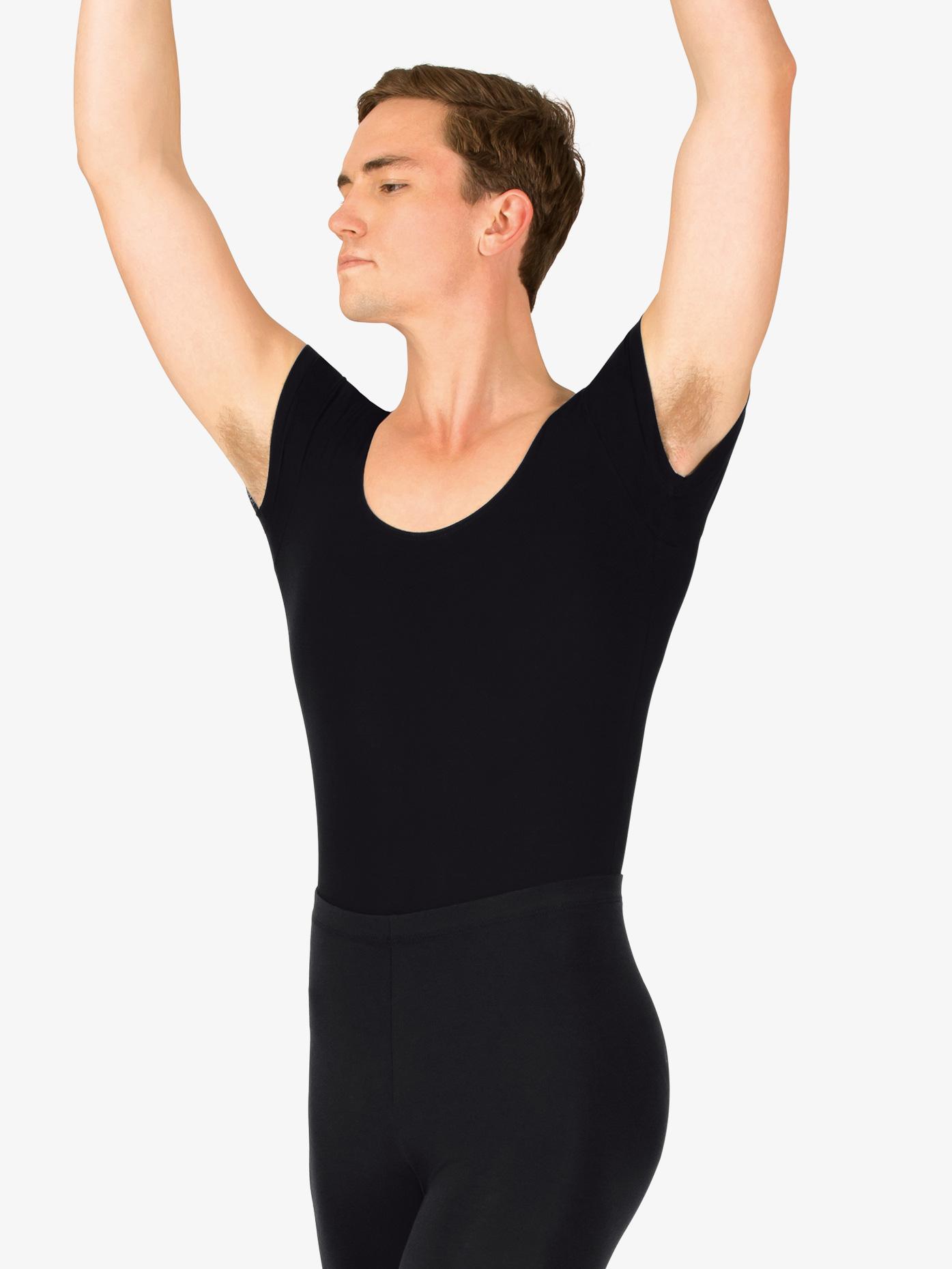 Mariia Mens Dance Cotton Short Sleeve Leotard P02M