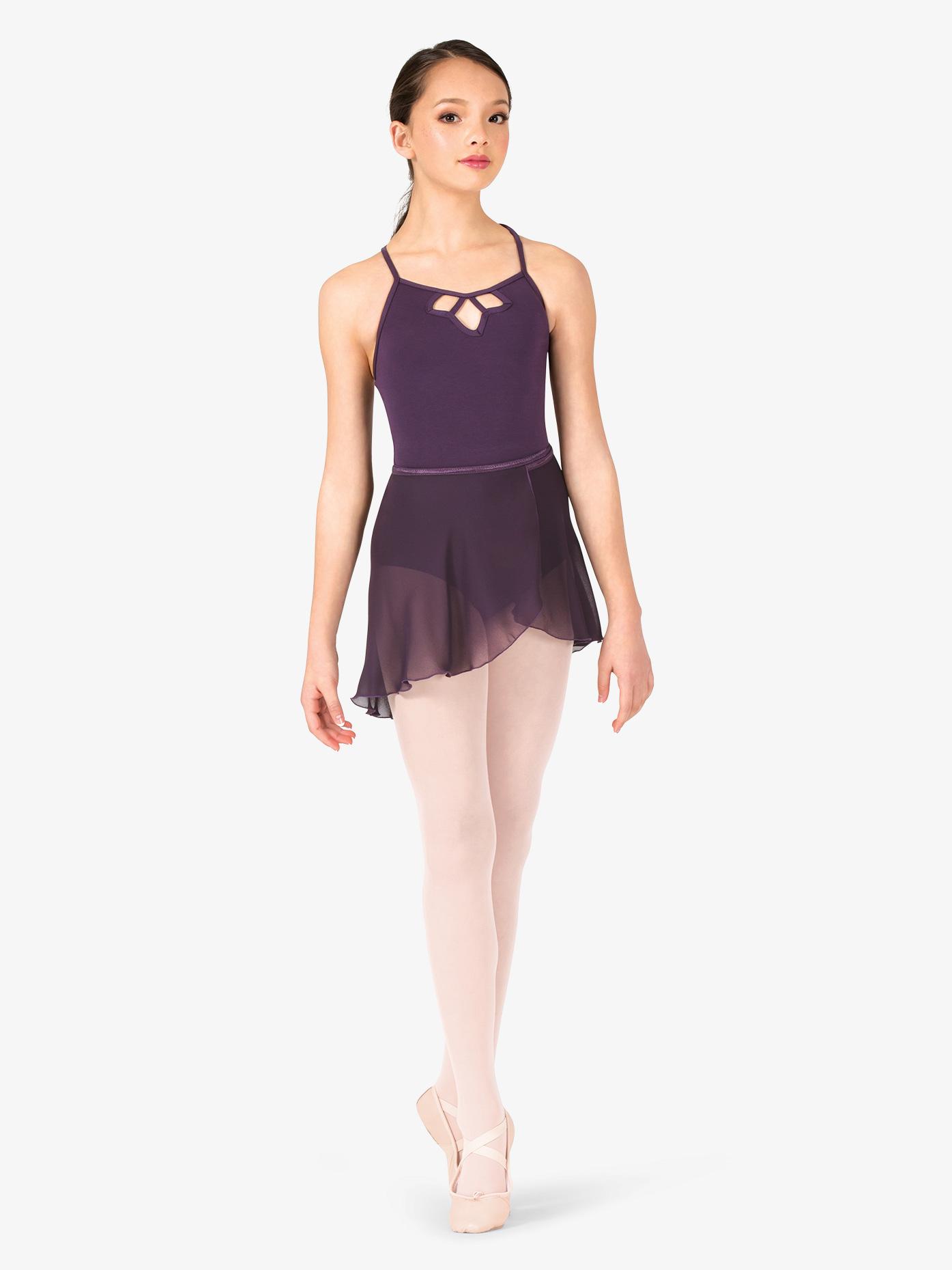 Natalie Girls Short Sheer Ballet Wrap Skirt P69C