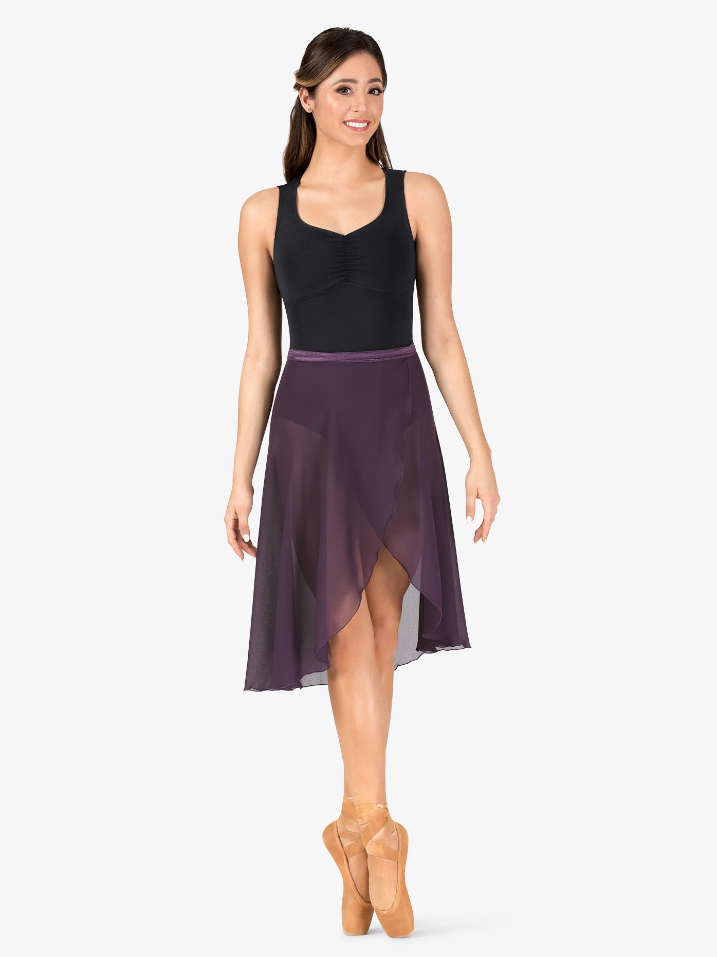 Natalie Womens Long Sheer Ballet Wrap Skirt P69L
