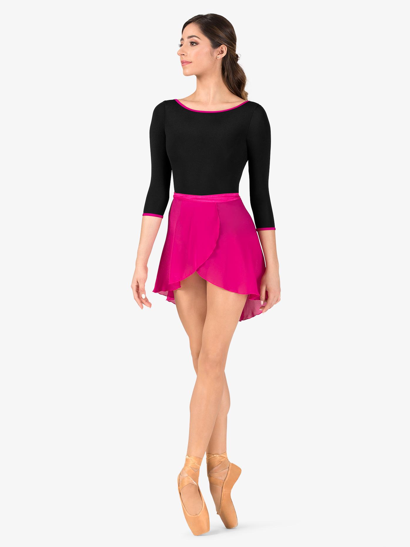 Natalie Womens Short Sheer Ballet Wrap Skirt P69