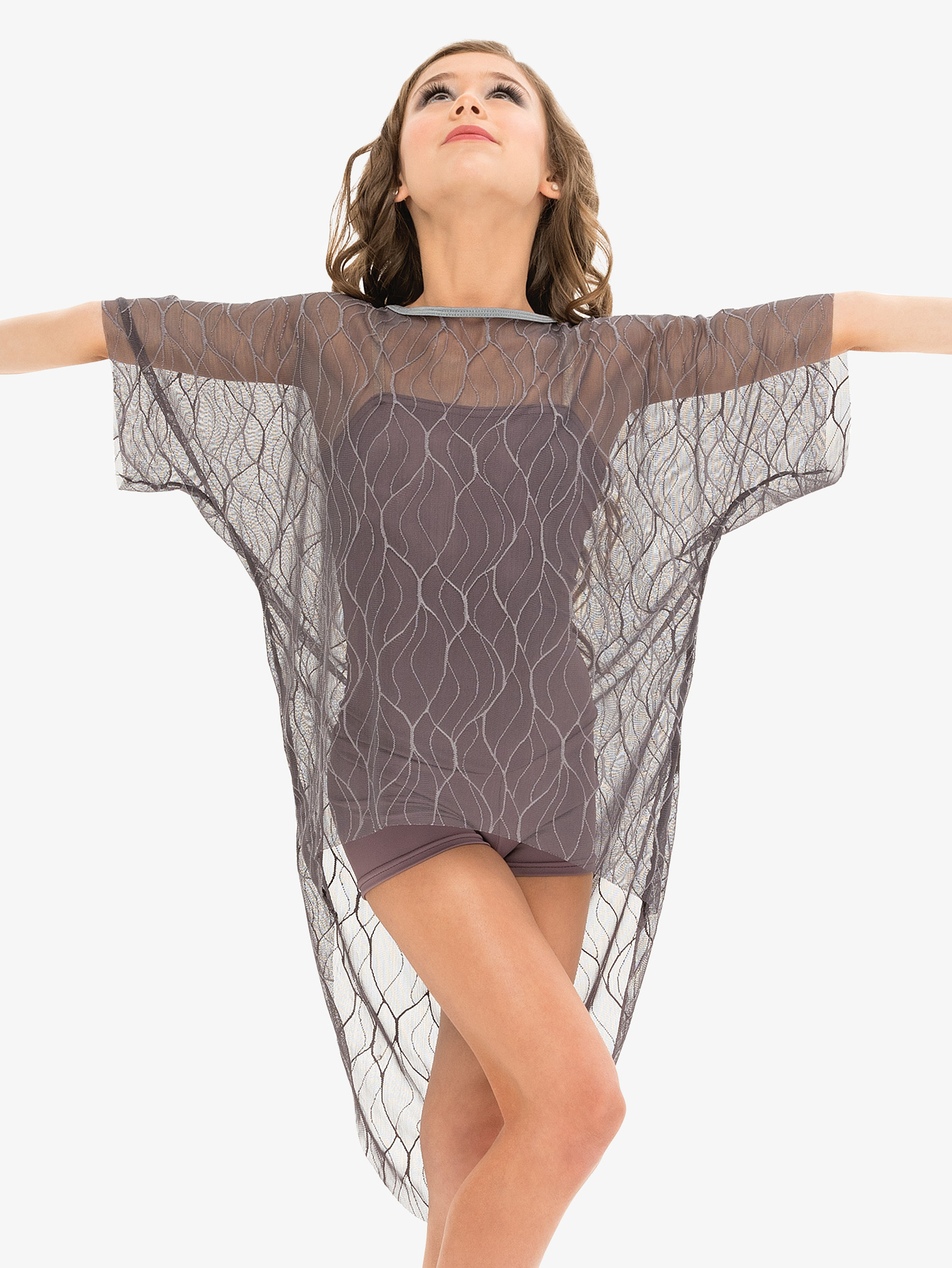 Reverence Womens Mesh Short Sleeve Performance Tunic Top Set RV1214