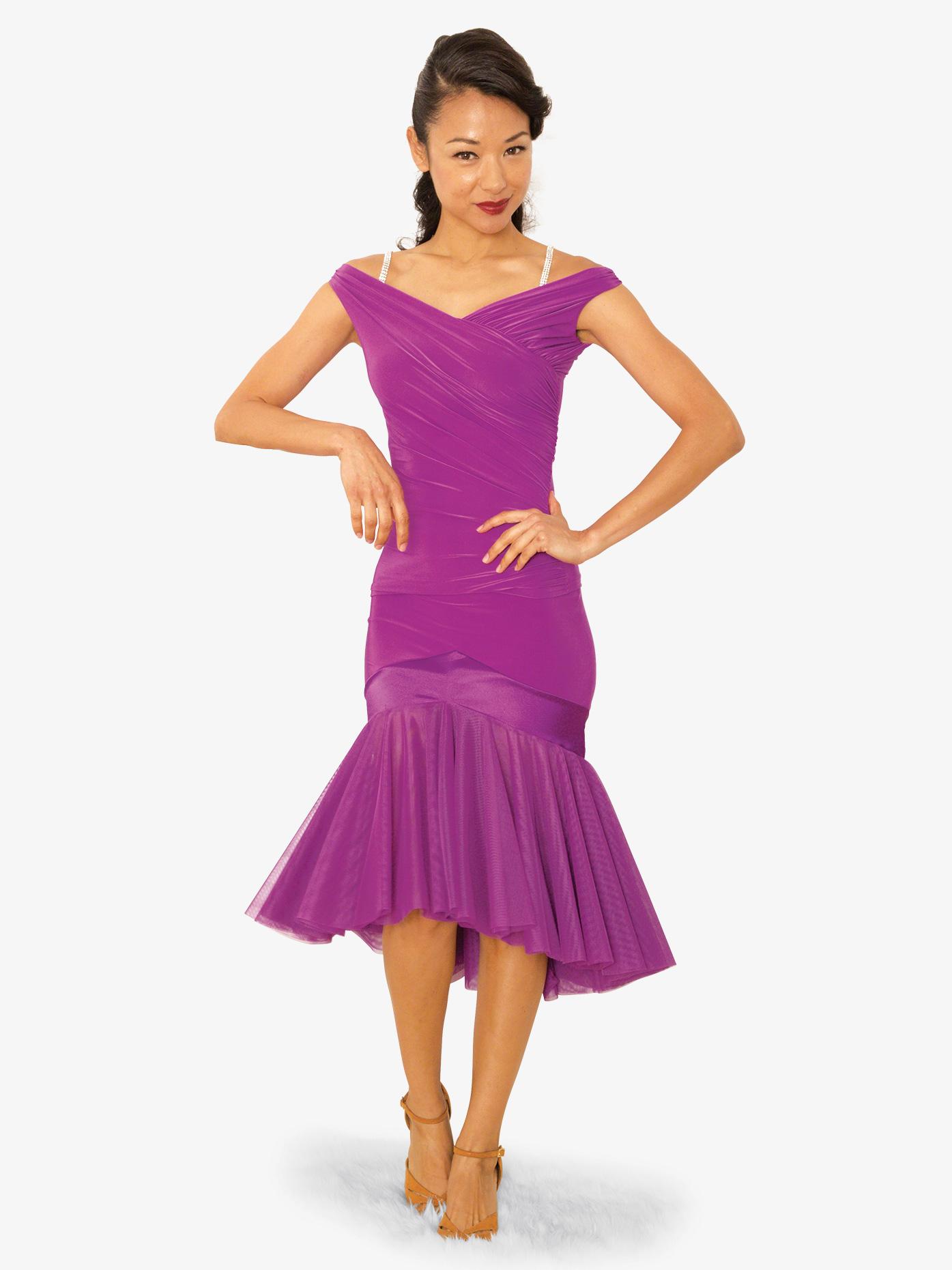 Dance America Womens Vida De Samba Ballroom Dance Skirt S820