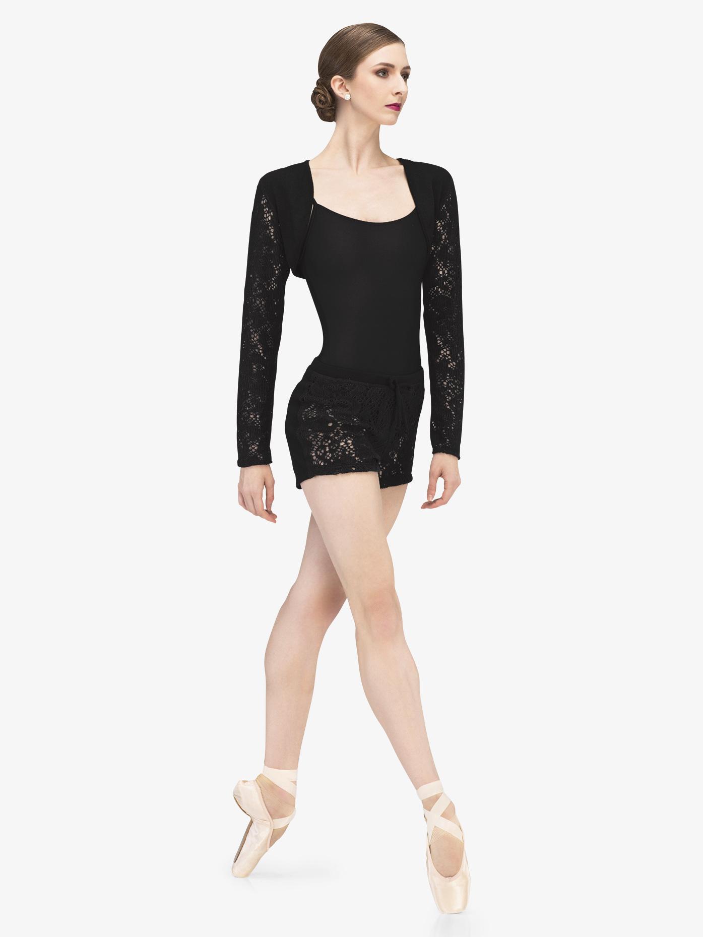 Wear Moi Womens Fango Knit Lace Warm Up Shorts WM207