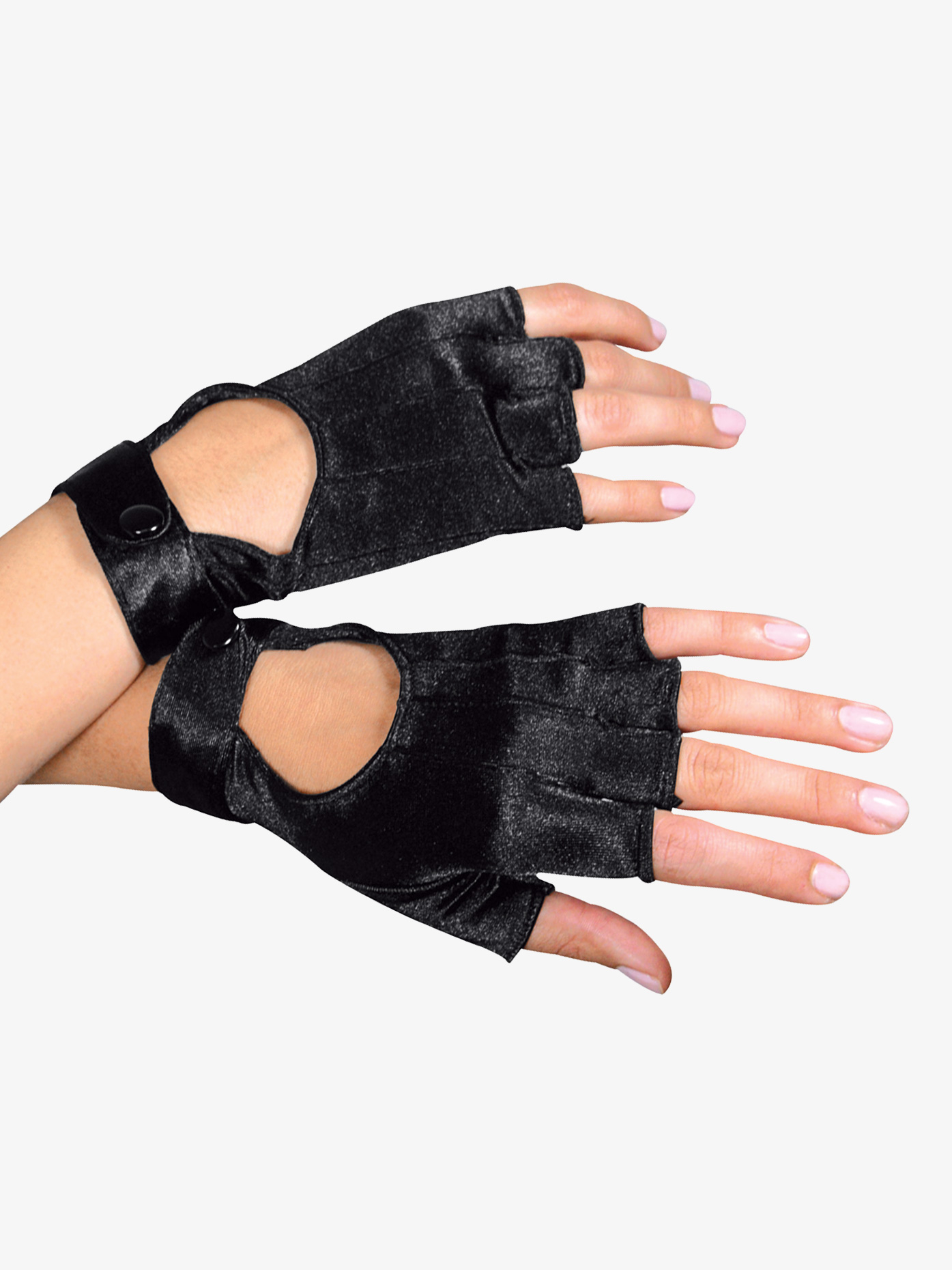 Double Platinum Fingerless Motorcycle Gloves A1039