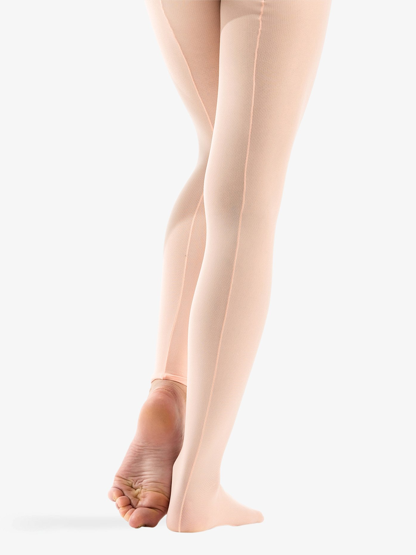 American Movement Adult Professional Seamed Mesh Convertible Tights AM1012
