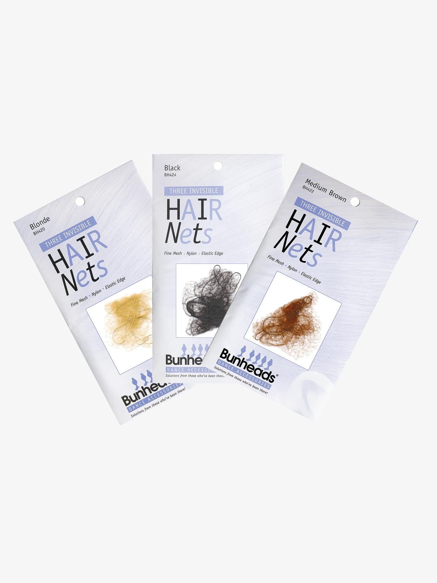 Bunheads Hair Nets 3 Pack (9 Nets) BH420K