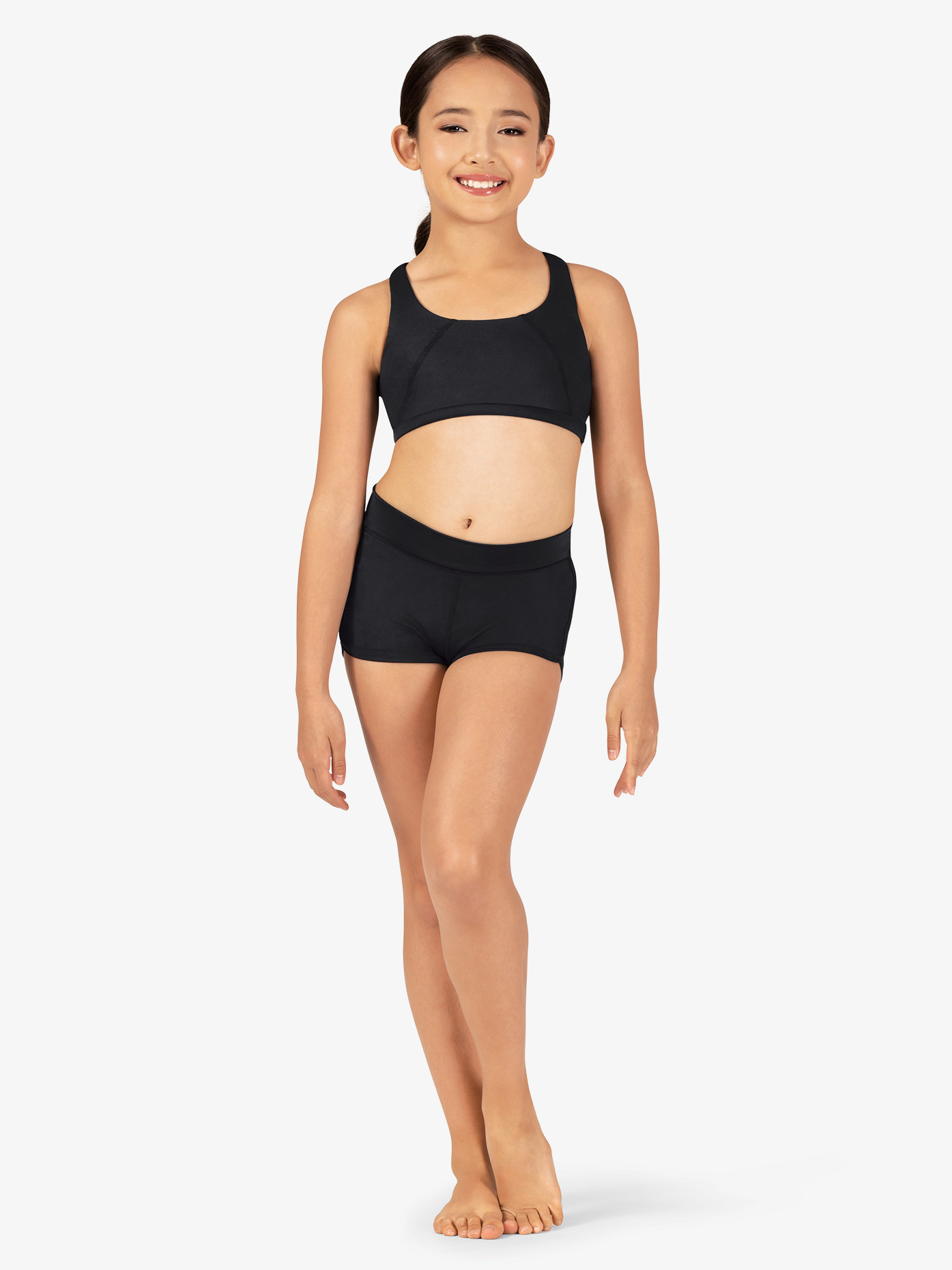 Bloch Girls Crisscross Ribbon Back Dance Shorts BM217S