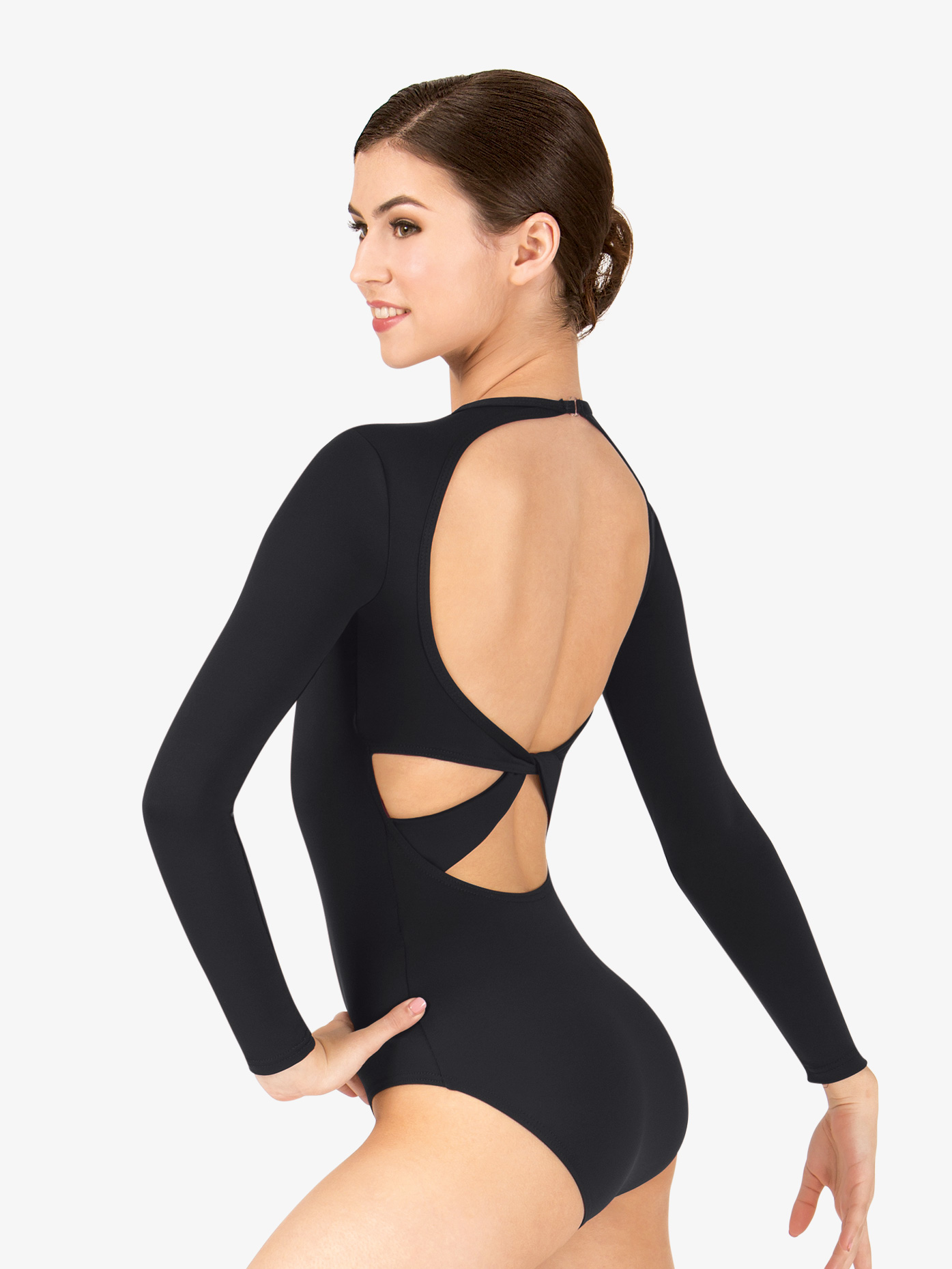 BalTogs Twist Back Long Sleeve Leotard BT5177