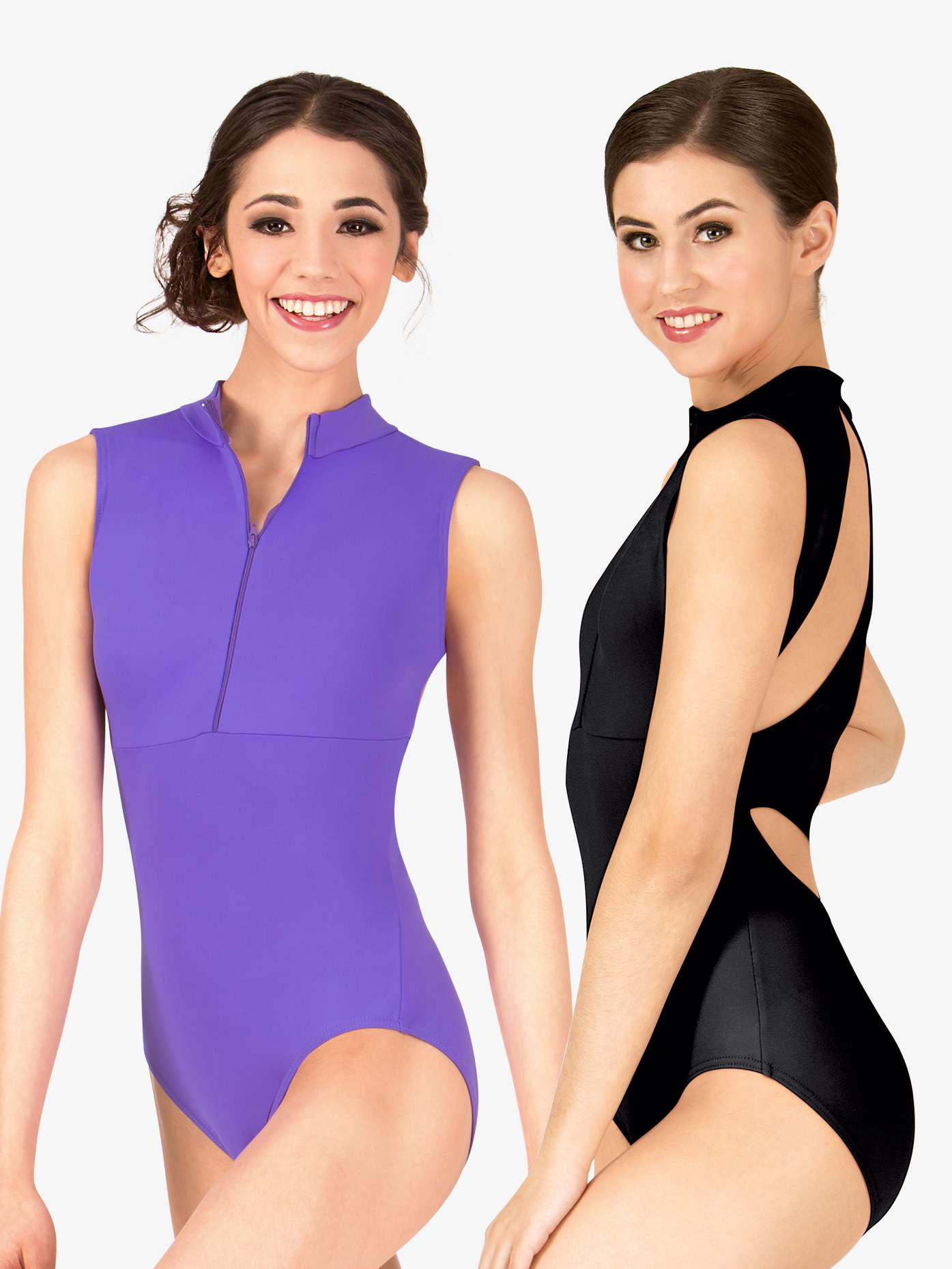 BalTogs High Neck Zip Front Tank Leotard BT5178