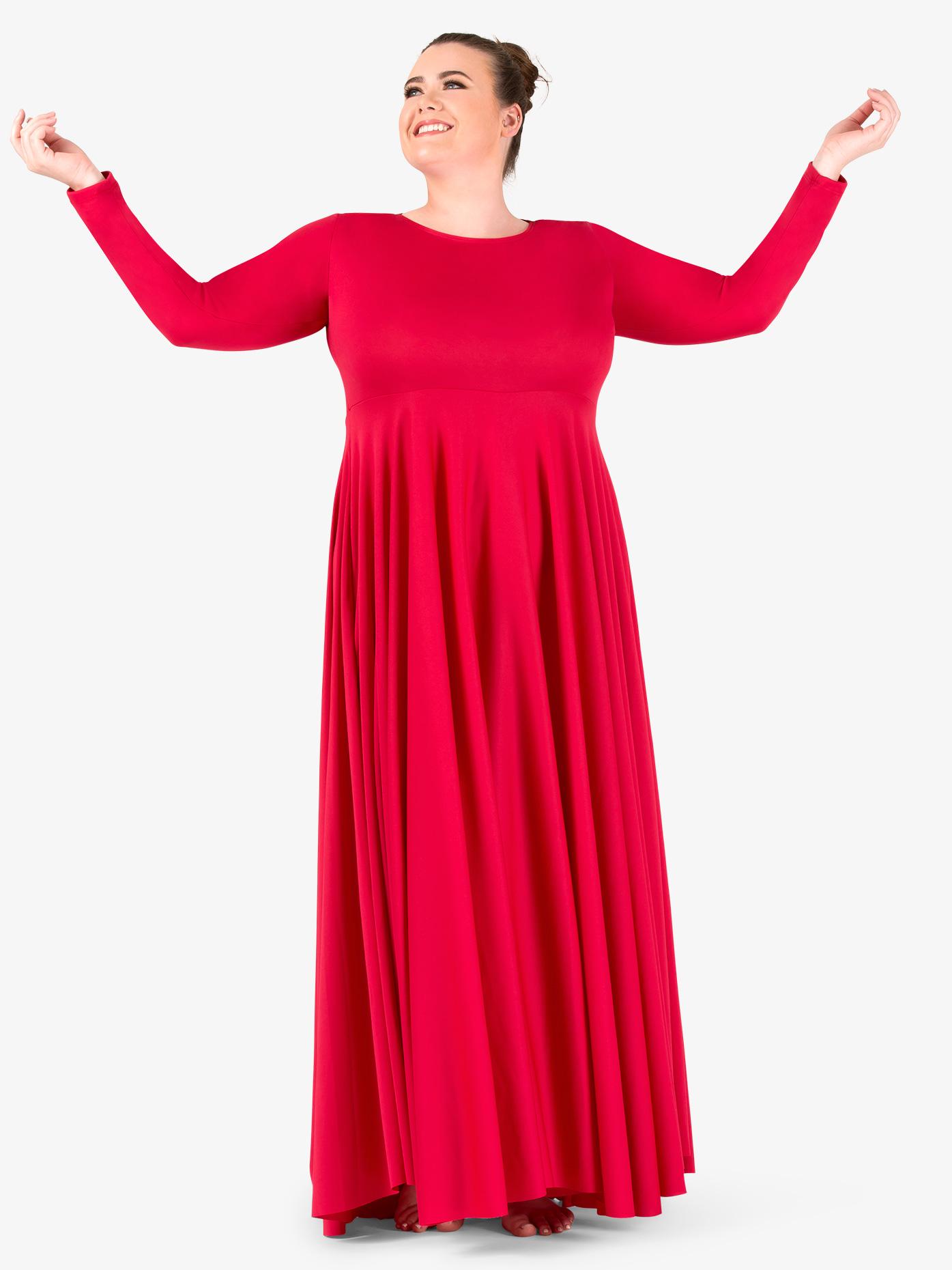 BalTogs Womens Plus Size Circle Worship Dress BT5190P