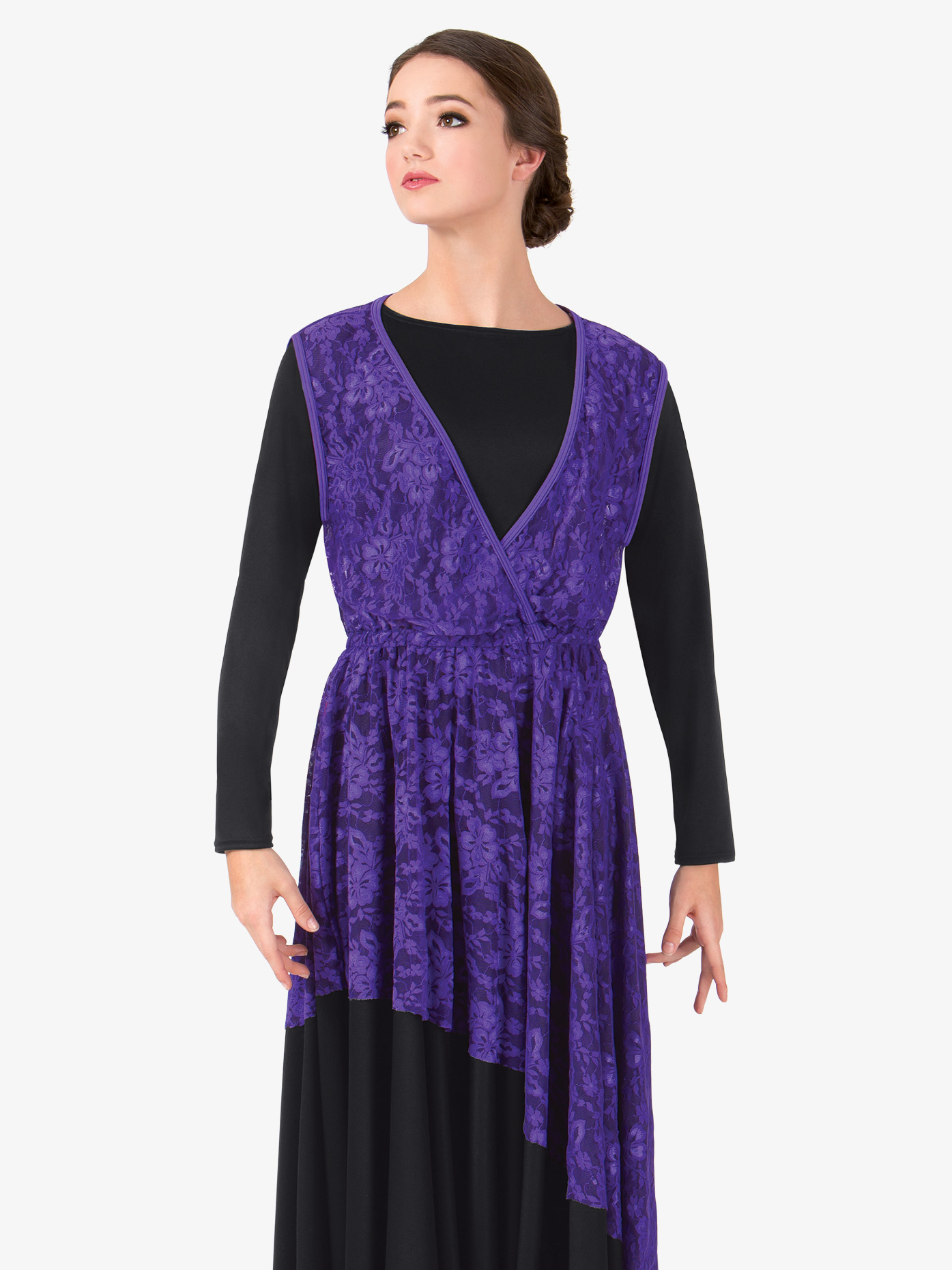BalTogs Womens Lace Overlay Worship Dress BT5191