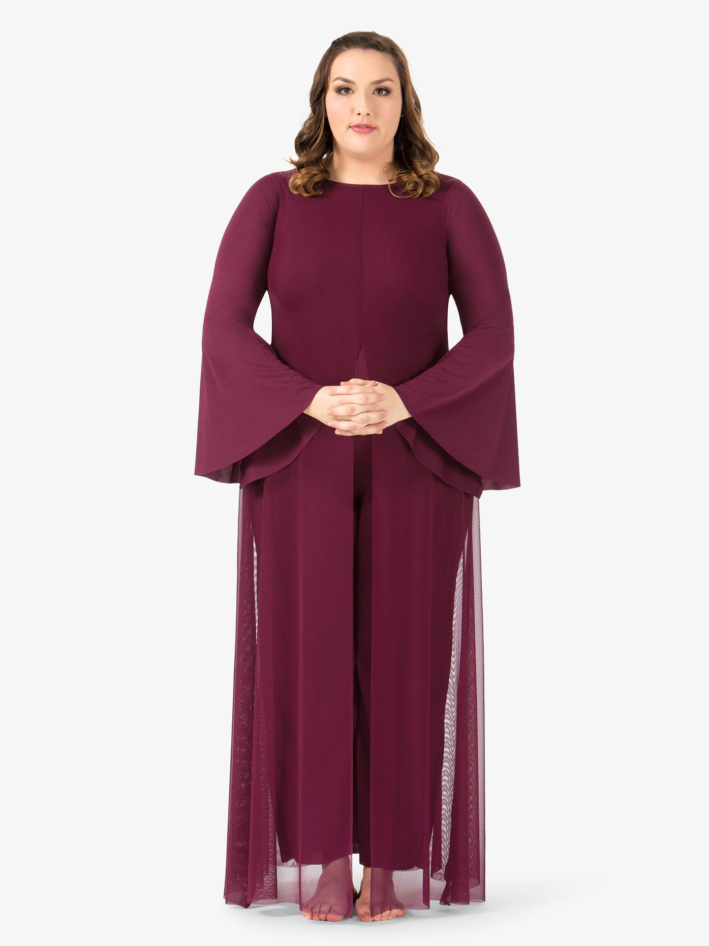 BalTogs Womens Plus Size Long Sleeve Worship Jumpsuit BT5194P