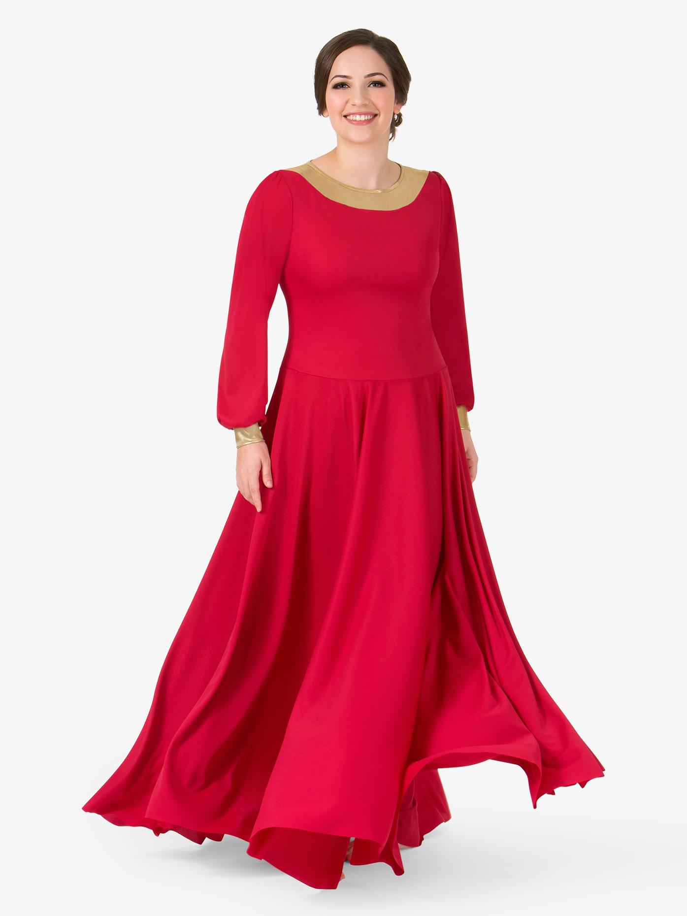 BalTogs Womens Metallic Back Worship Dress BT5196