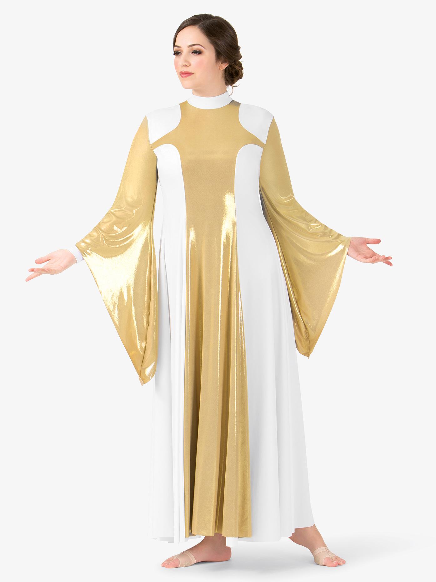 BalTogs Womens Metallic Worship Dress BT5197