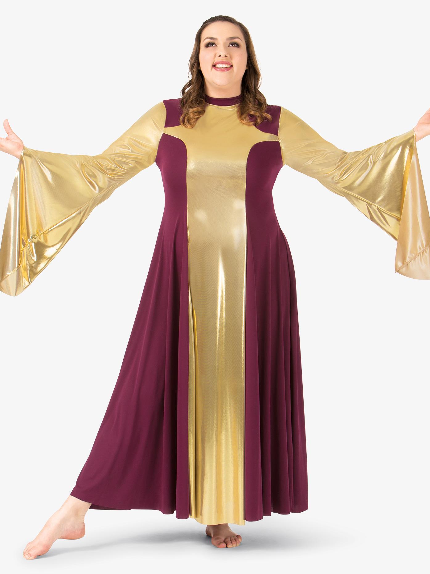 BalTogs Womens Plus Size Metallic Worship Dress BT5197P
