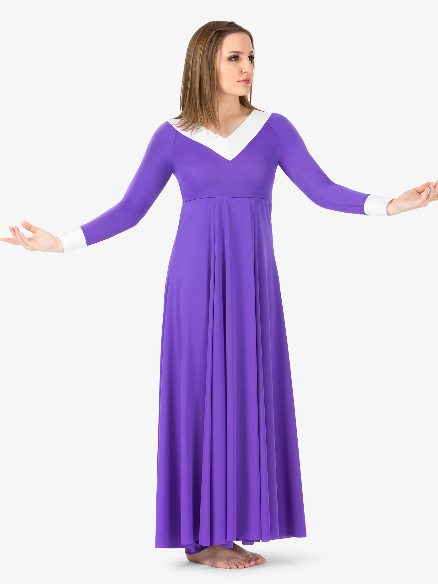 b1a461c839d Womens V Front Worship Jumpsuit - Style No BT5199. Loading zoom