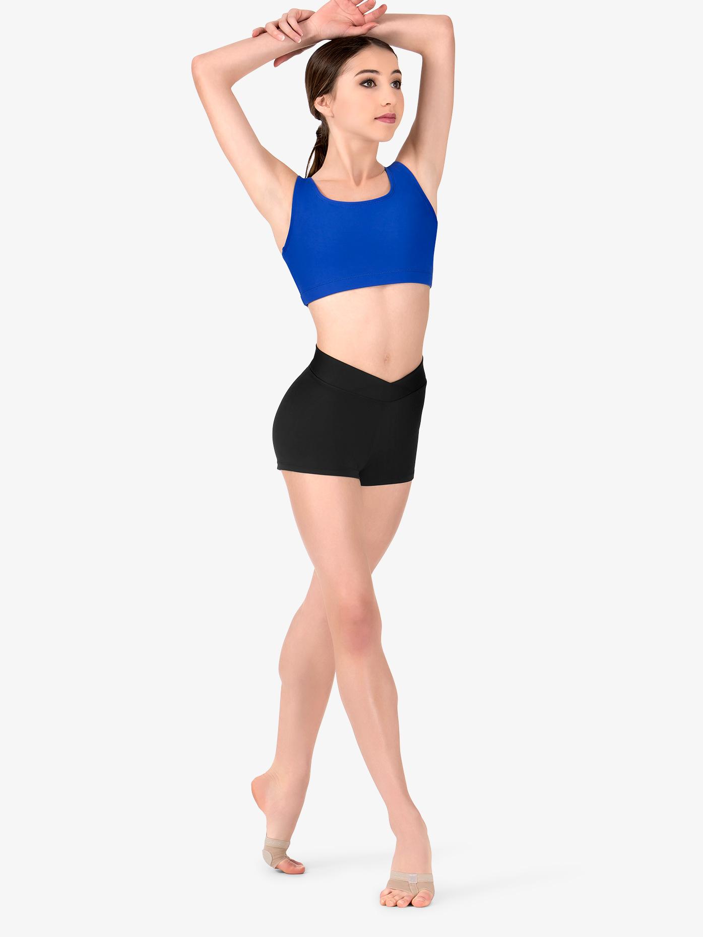 78c4ecbbb3e2c Womens Team Basic Compression V-Front Dance Shorts - Style No BT5204. Loading  zoom