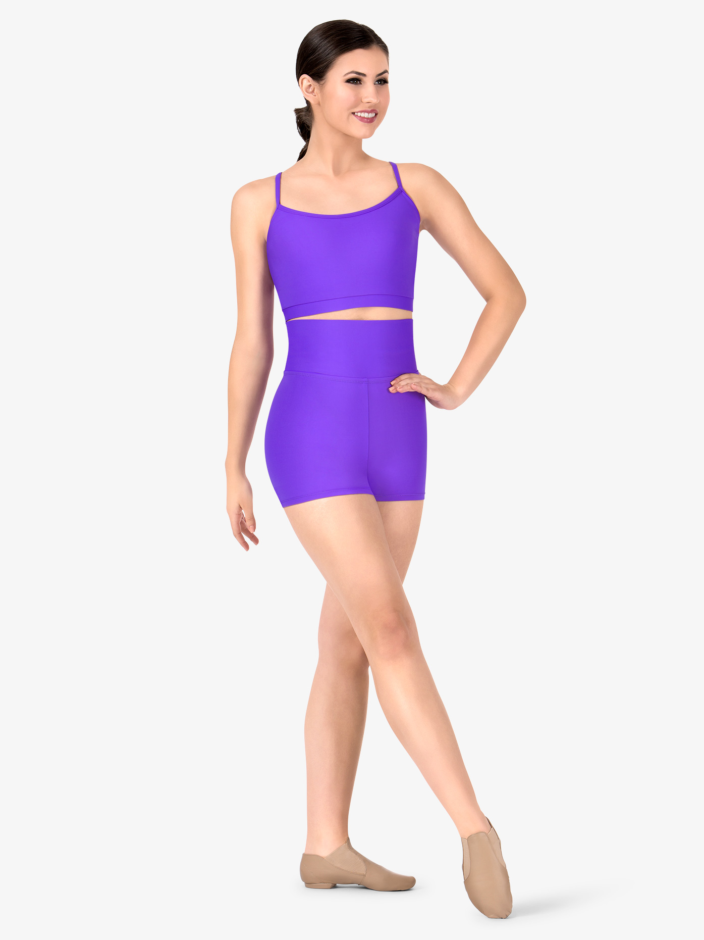 3ed41428c03 Womens Plus Size Team Basic Compression High Waist Dance Shorts - Style No  BT5205P. Loading zoom