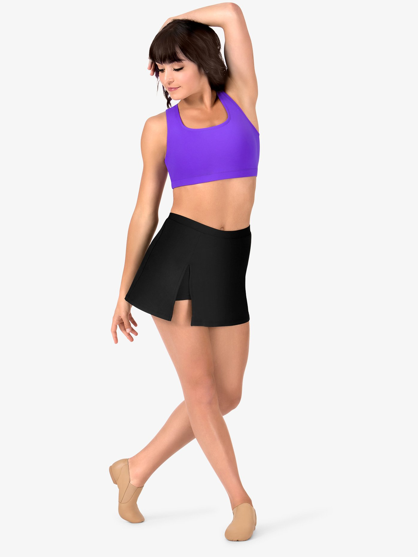 963b0f1ba9aa6 Womens Team Basic Compression Dance Skort - Style No BT5206. Loading zoom