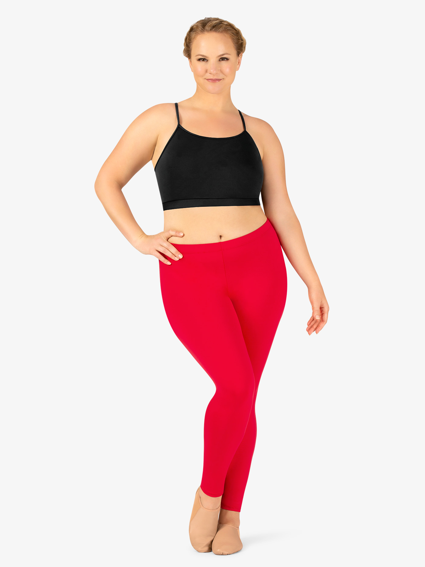 6017186ec74 Womens Plus Size Team Basic Compression Dance Legging - Style No BT5207P. Loading  zoom