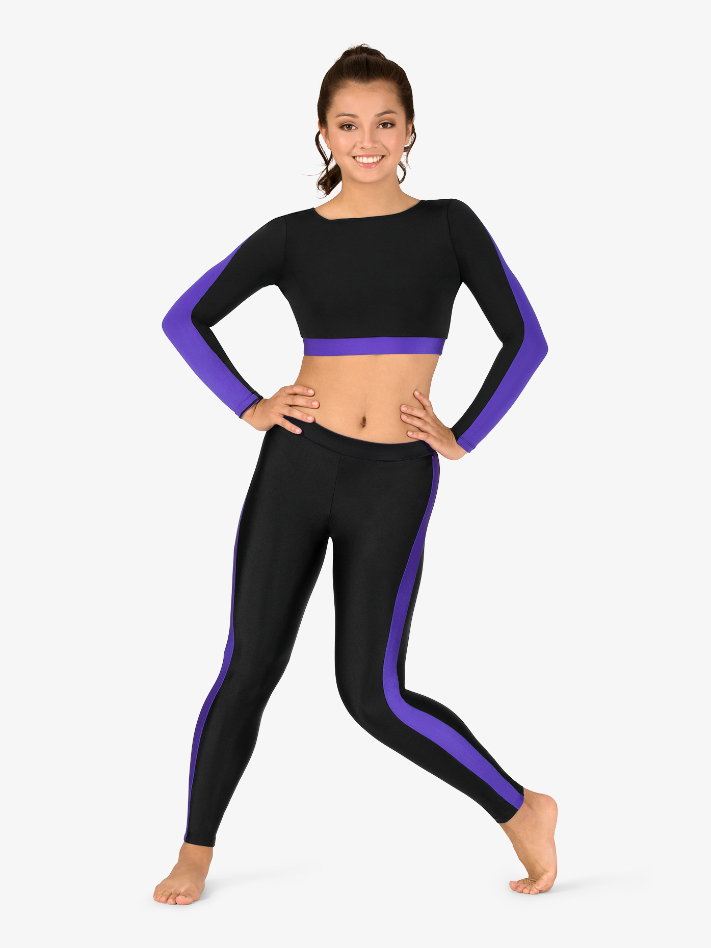 47a75cea247 Womens Plus Size Team Two-Tone Compression Leggings - Style No BT5220P. Loading  zoom