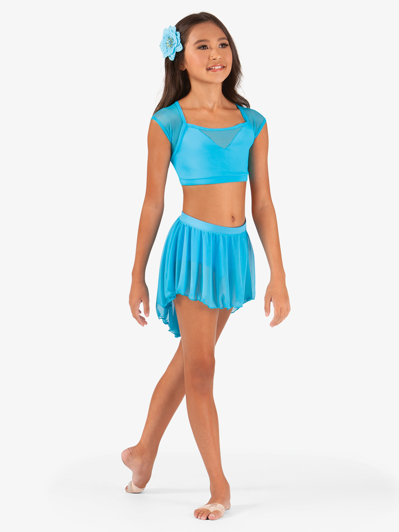 Body Wrappers Child High-Low Mesh Dance Skirt BW1108C