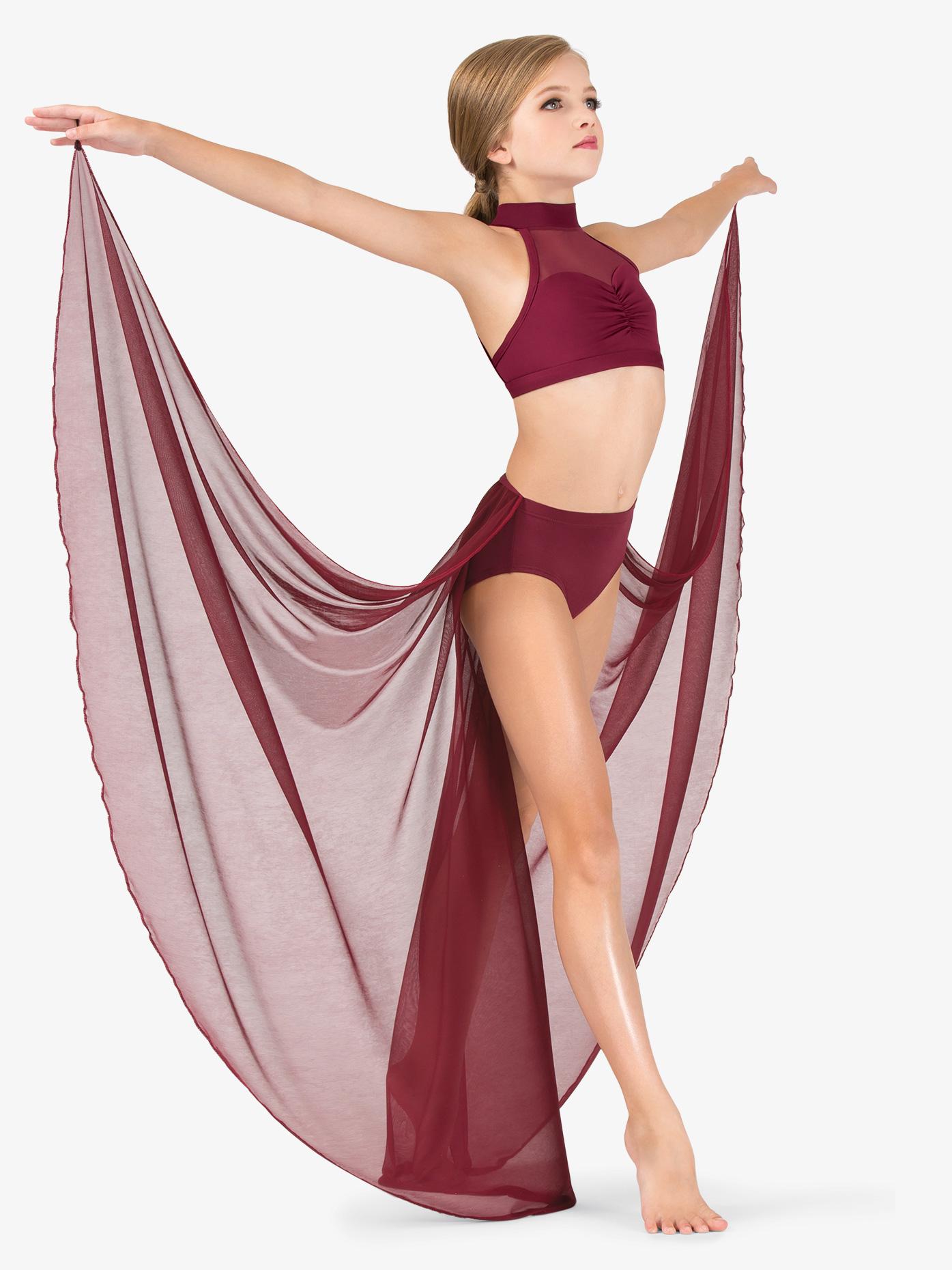 Body Wrappers Girls Performance Long Half Skirt BW1116