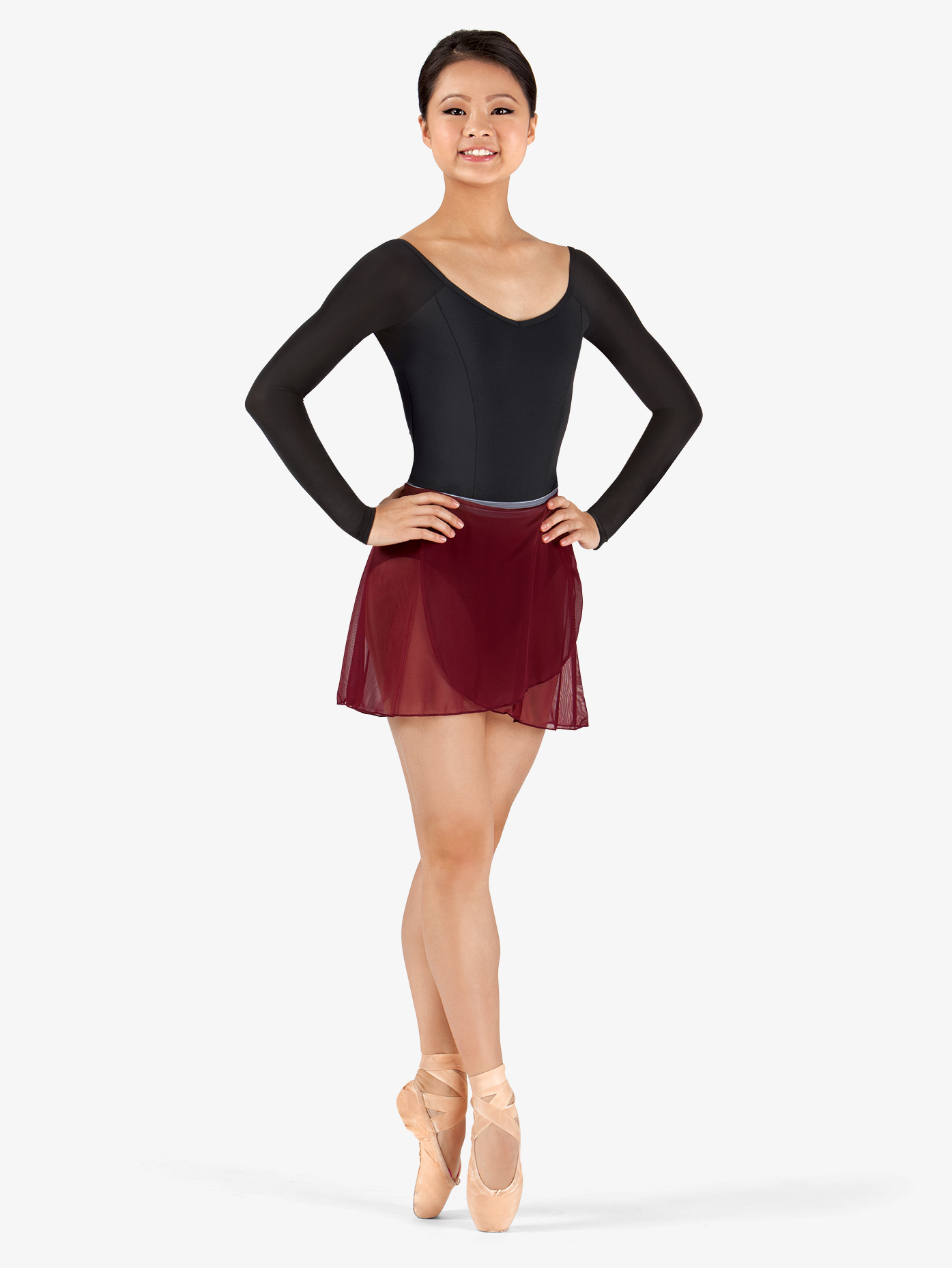 Body Wrappers Adult Two-Tone Wrap Dance Skirt BW9100