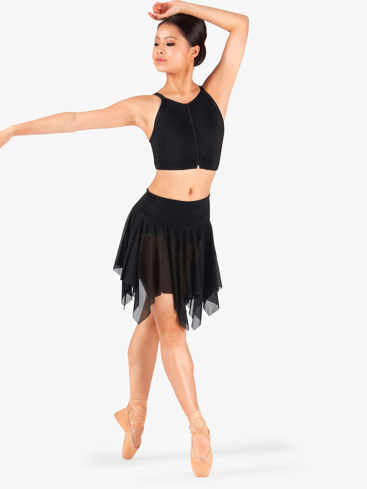 Body Wrappers Adult Mesh Handkerchief Dance Skirt BW9102