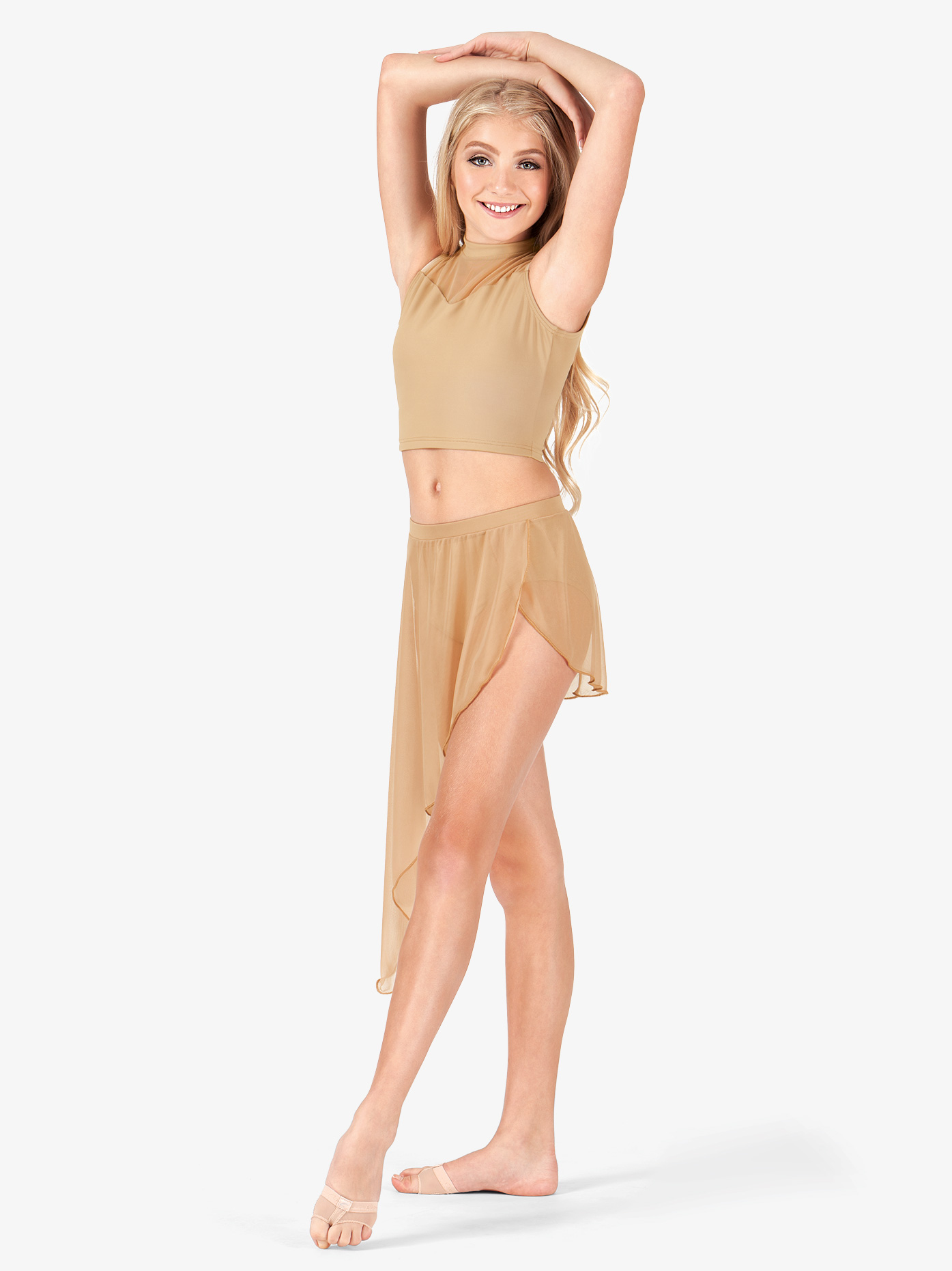Body Wrappers Adult Asymmetrical Drape Dance Skirt BW9106