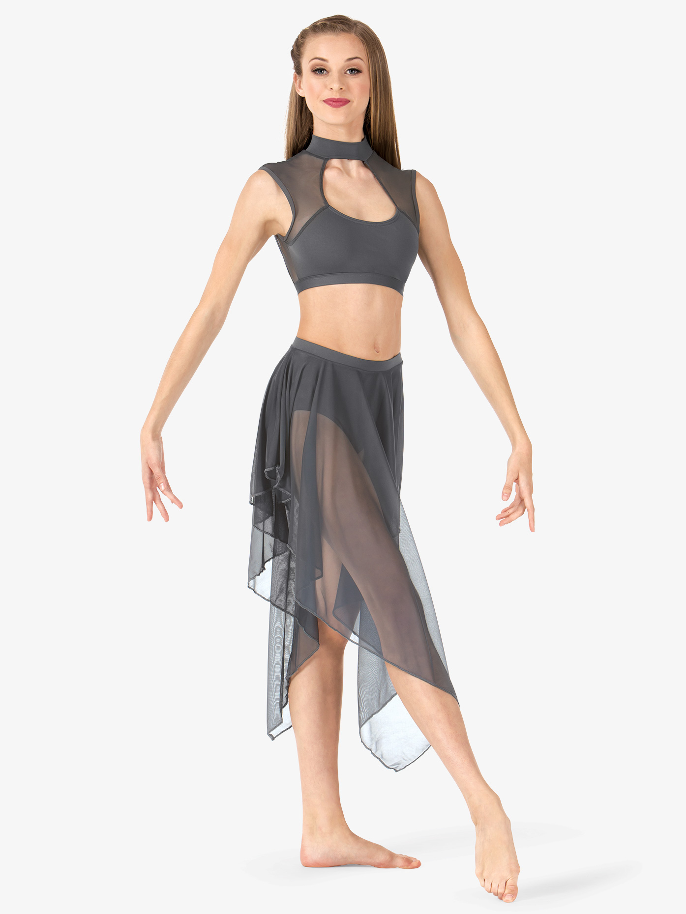 Body Wrappers Adult Convertible High-Low Dance Skirt BW9113