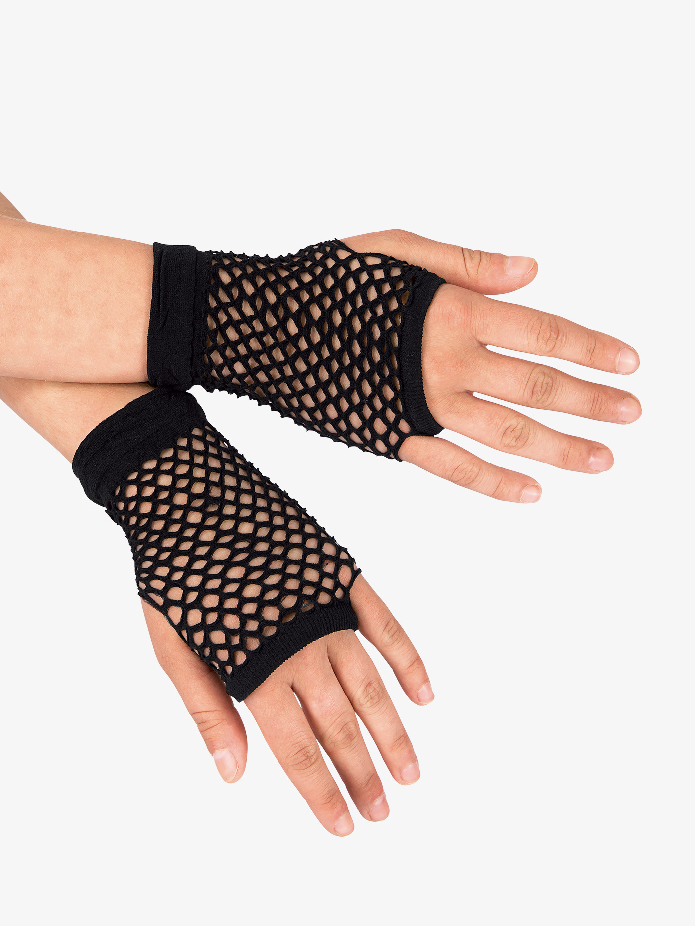 Double Platinum Short Fishnet Gloves C26991