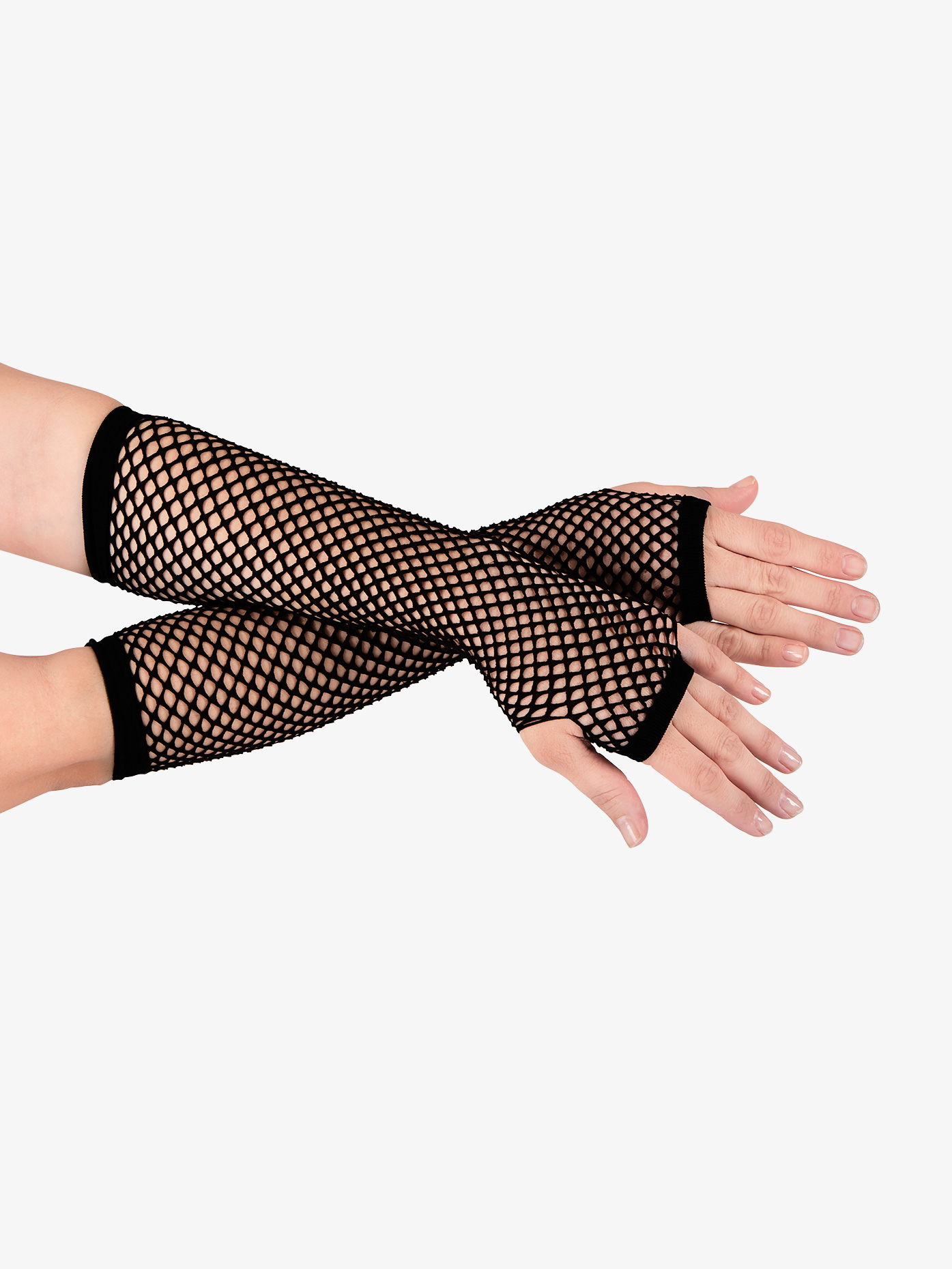Double Platinum Long Fishnet Gloves C26992