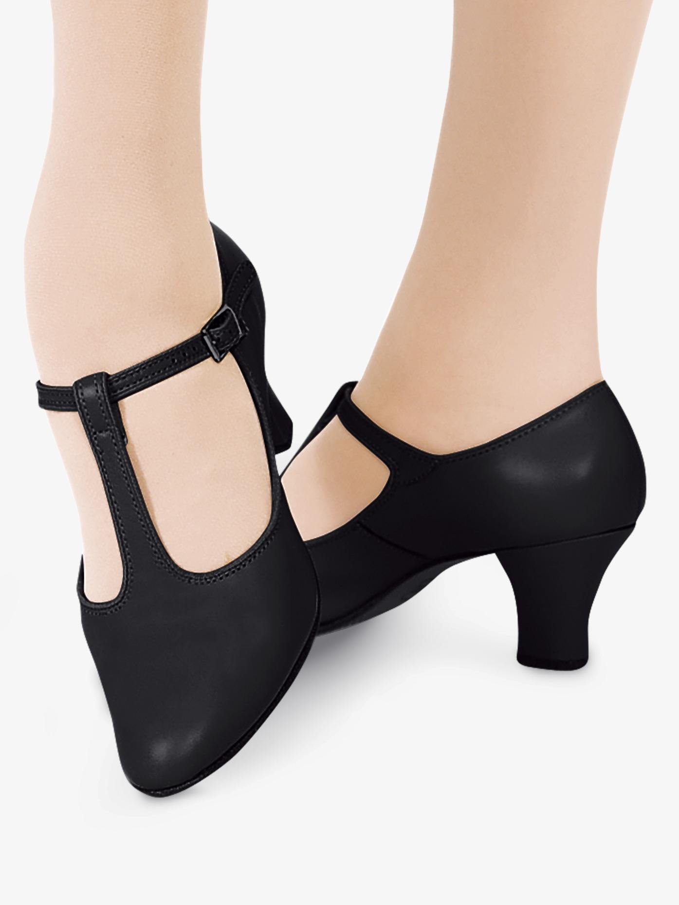 Capezio Adult T-Strap 2 Heel Character Shoes C700