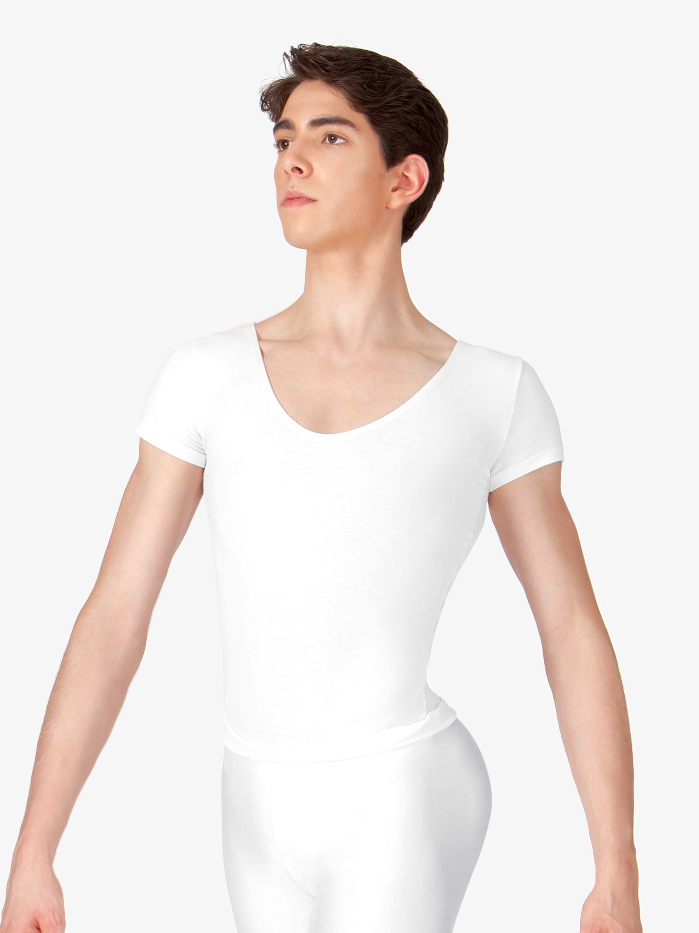 BalTogs Men's Cotton Short Sleeve Thong Leotard CL881T